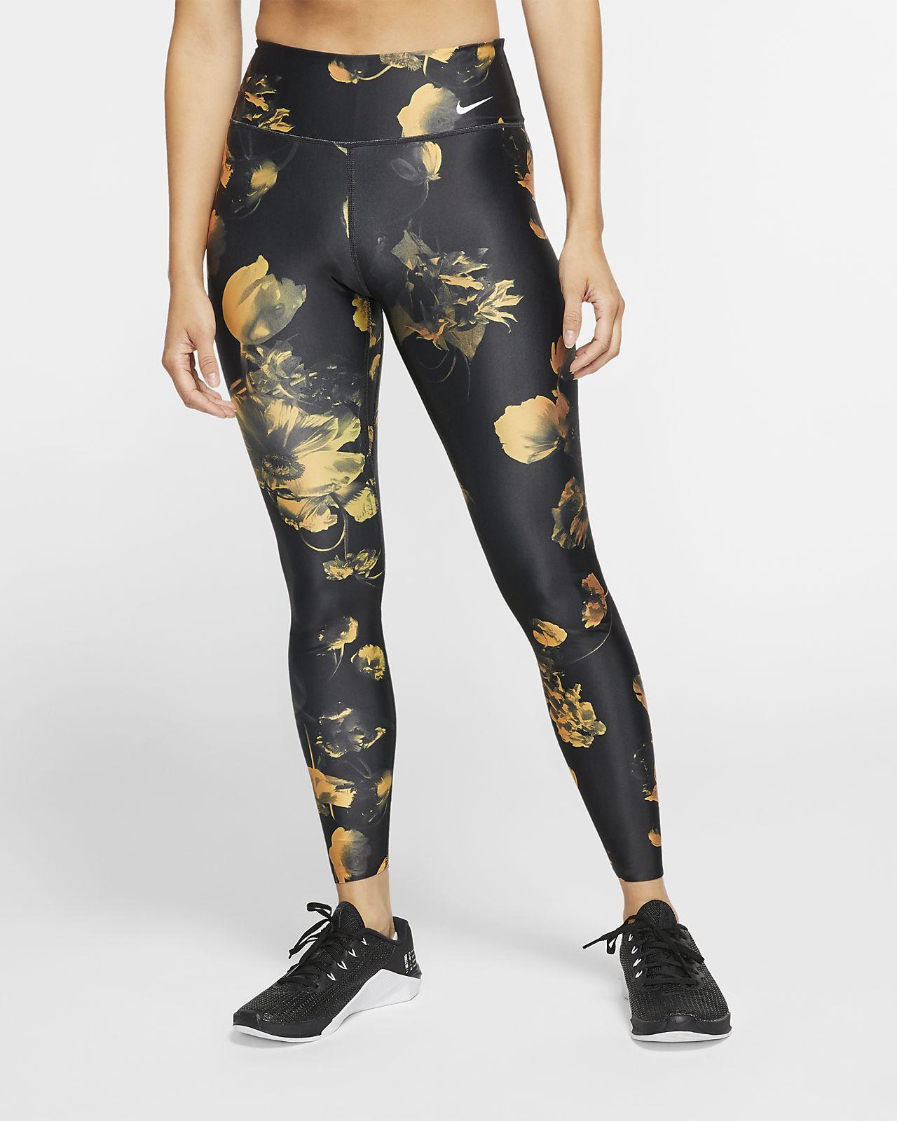 Nike Power Trainings-Tights mit Blumendesign für Damen