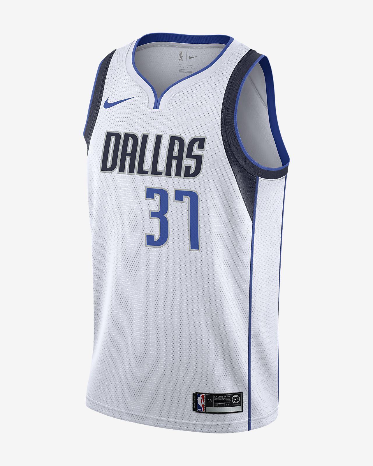 Camiseta conectada para hombre Nike NBA Kostas Antetokounmpo Association Edition Swingman (Dallas Mavericks)