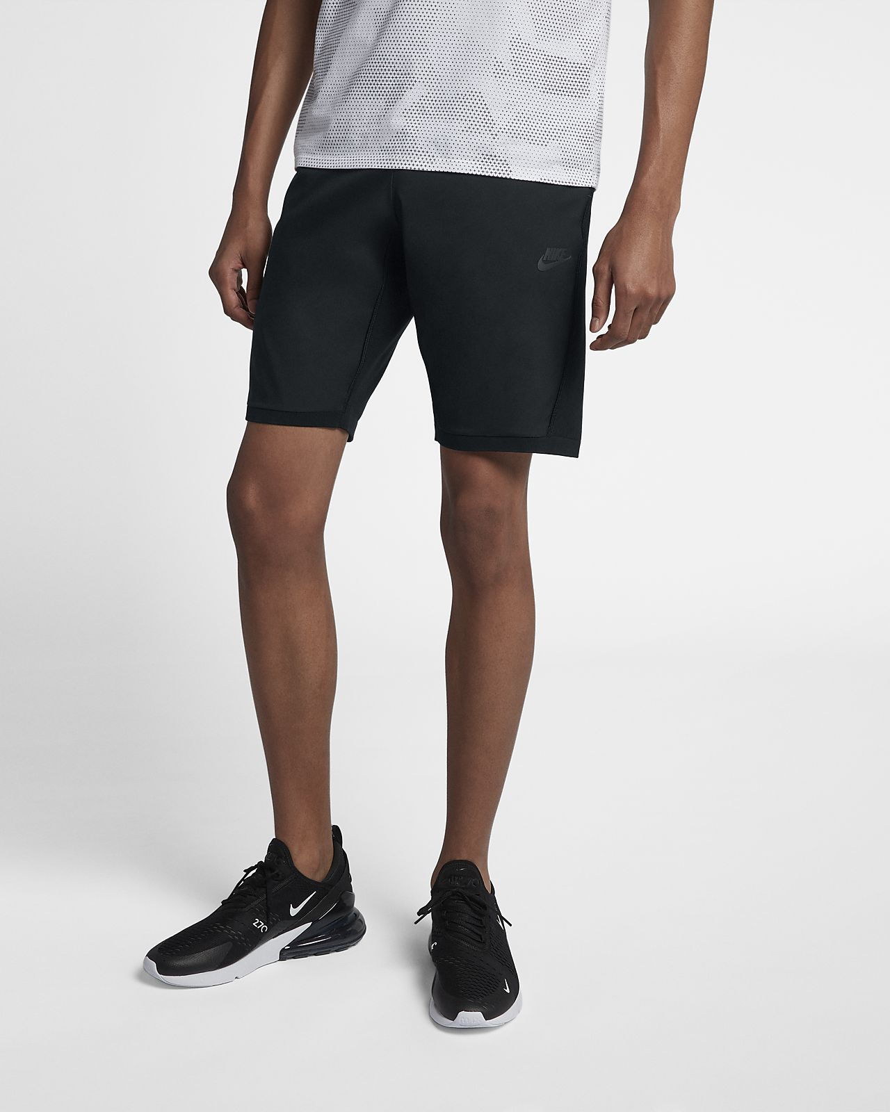 Nike Sportswear Tech Knit Men's Shorts White/Black