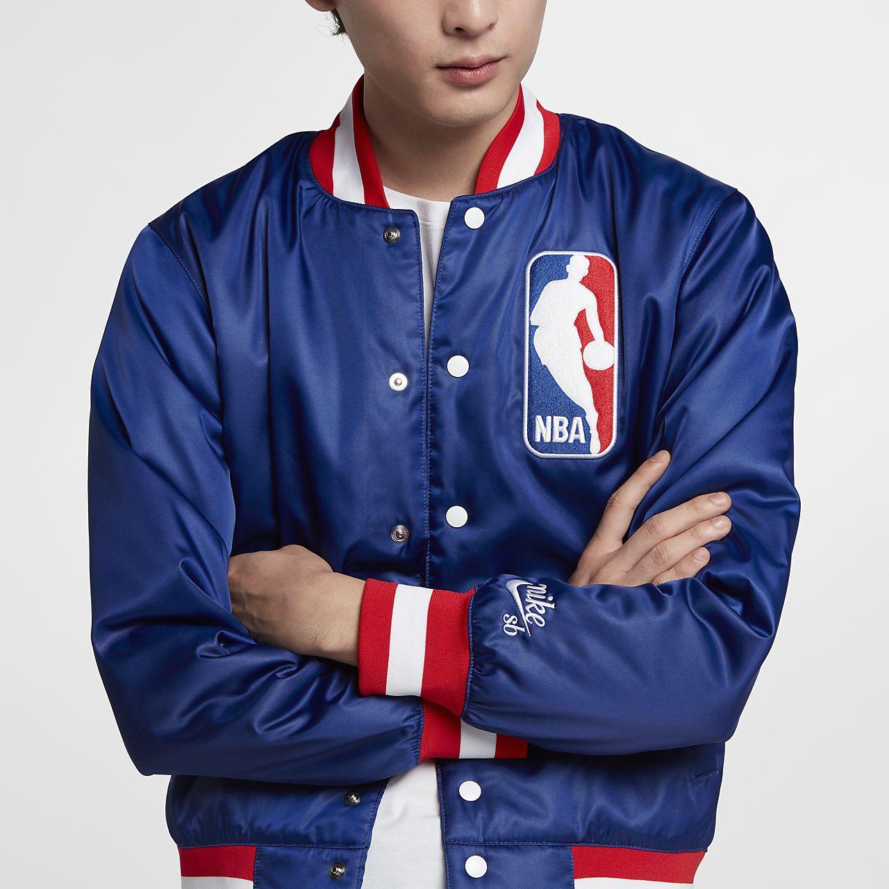 innovative design 684a9 8430f ... Nike SB x NBA Men s Bomber Jacket