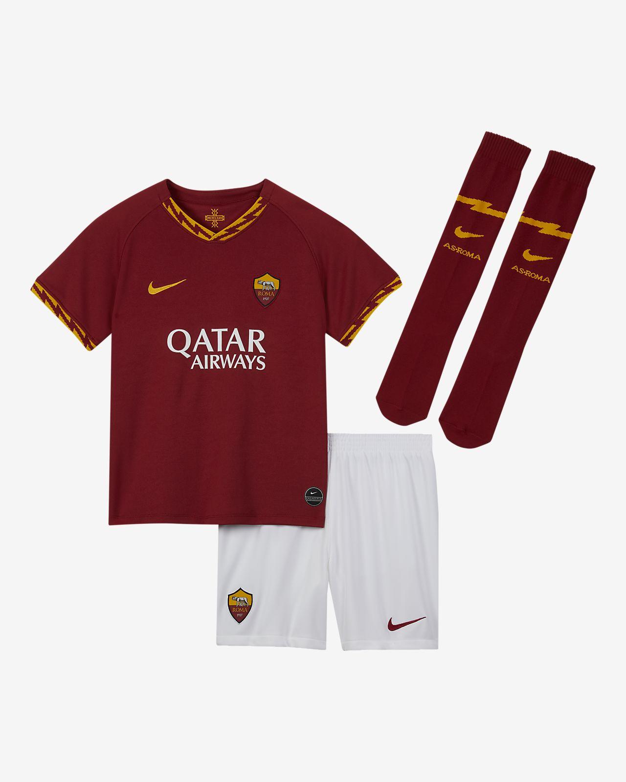 Kit de fútbol para niños talla pequeña A.S. Roma 2019/20 Home