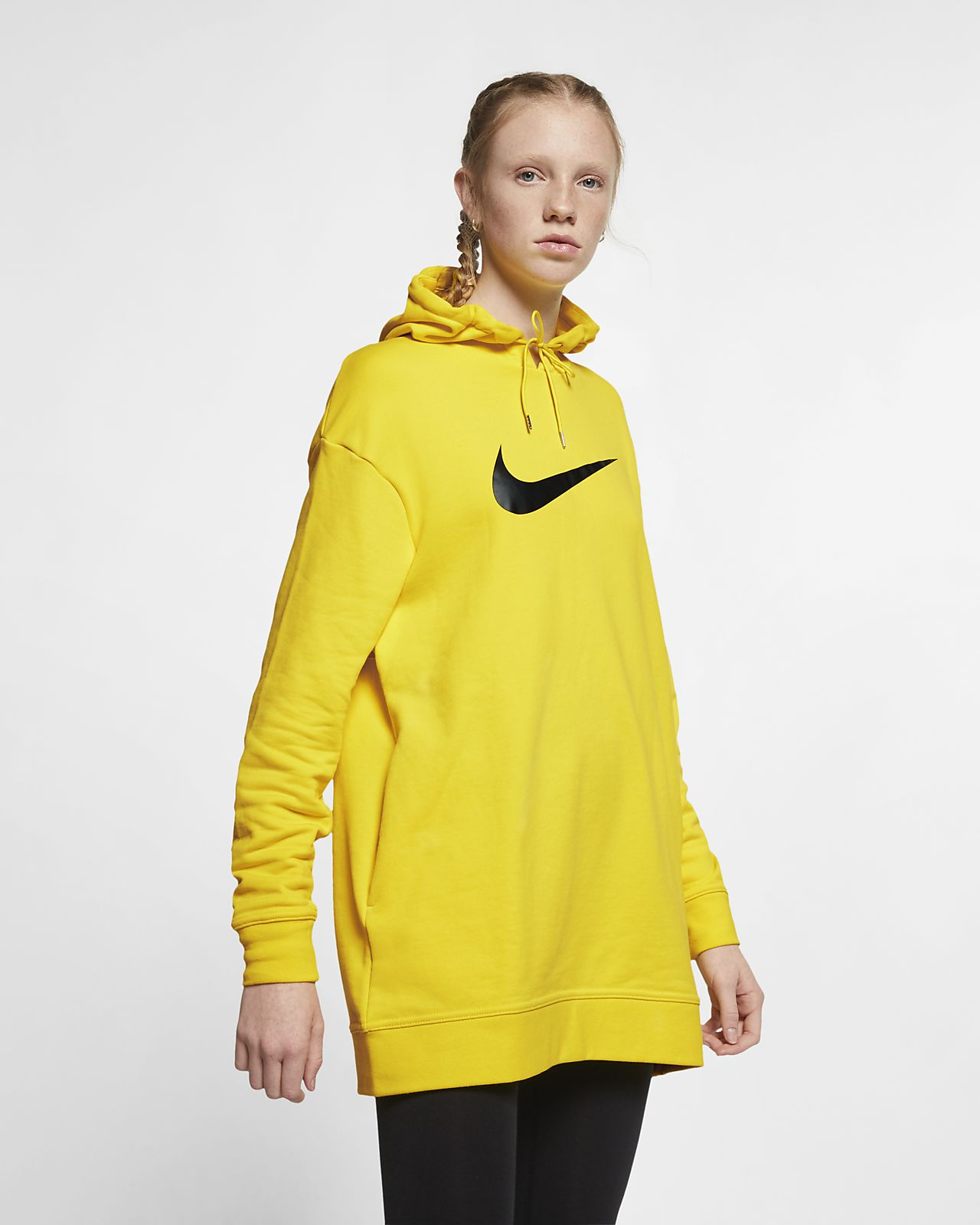 5d996fdbd77c Sweat à capuche en molleton Nike Sportswear Swoosh pour Femme. Nike ...