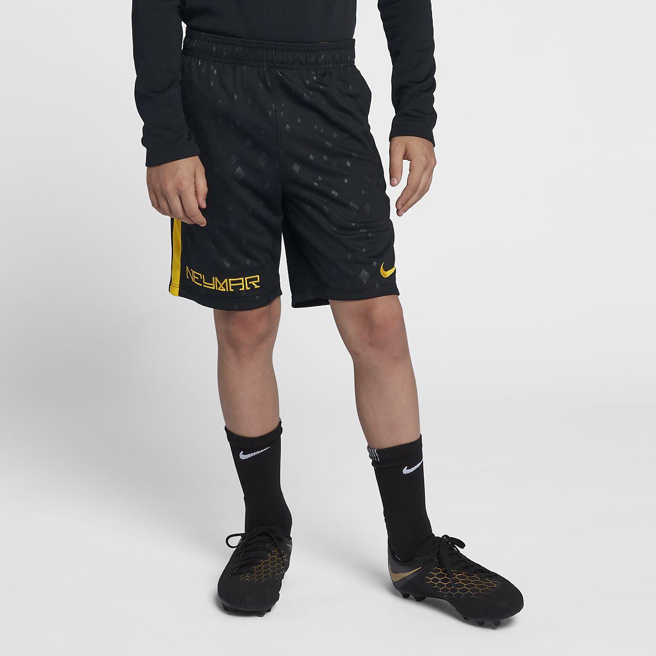 กางเกงฟุตบอลขาสั้นเด็กโต Nike Dri-FIT Neymar Jr Academy (ชาย)