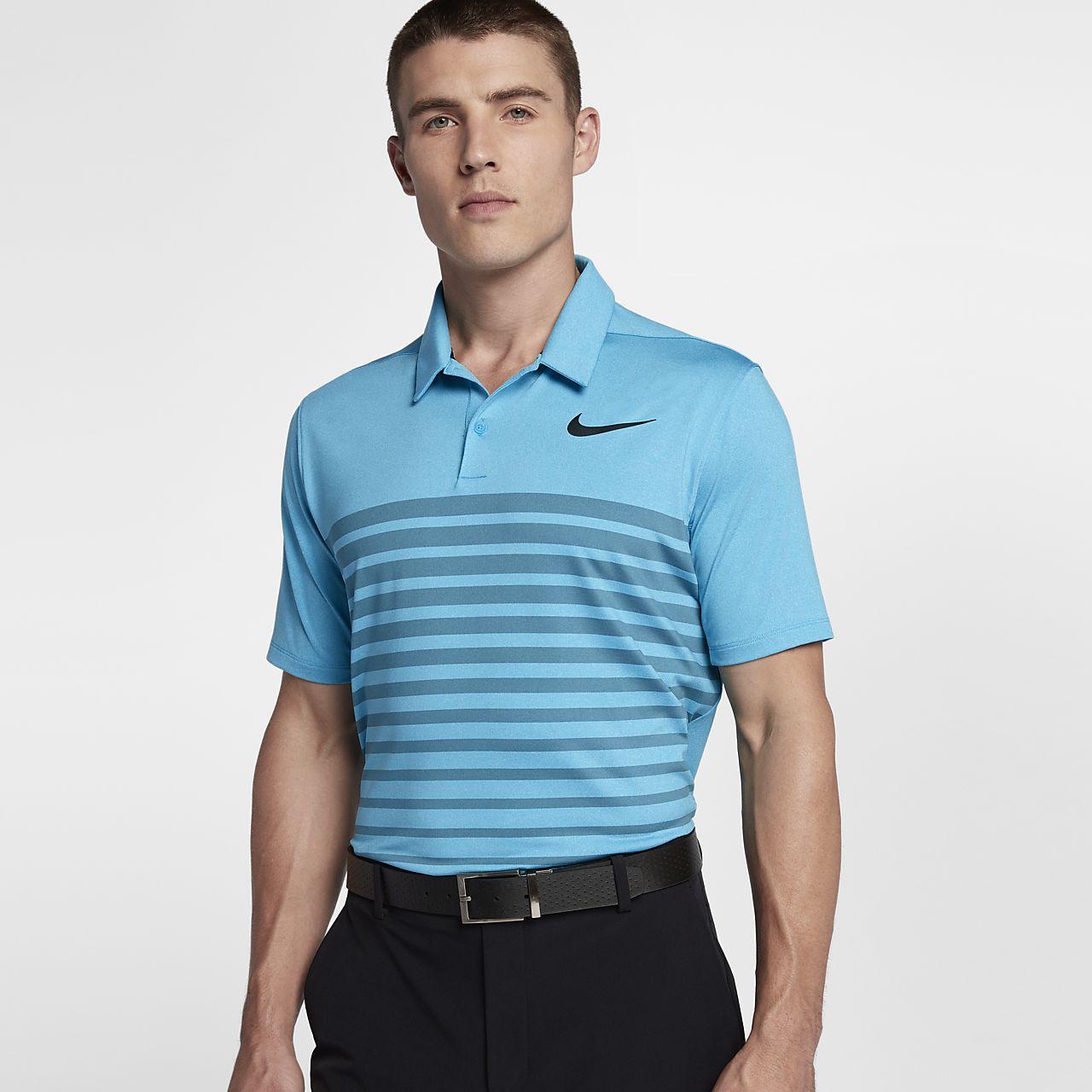 ... Nike Dry Heather Stripe Men's Standard Fit Golf Polo