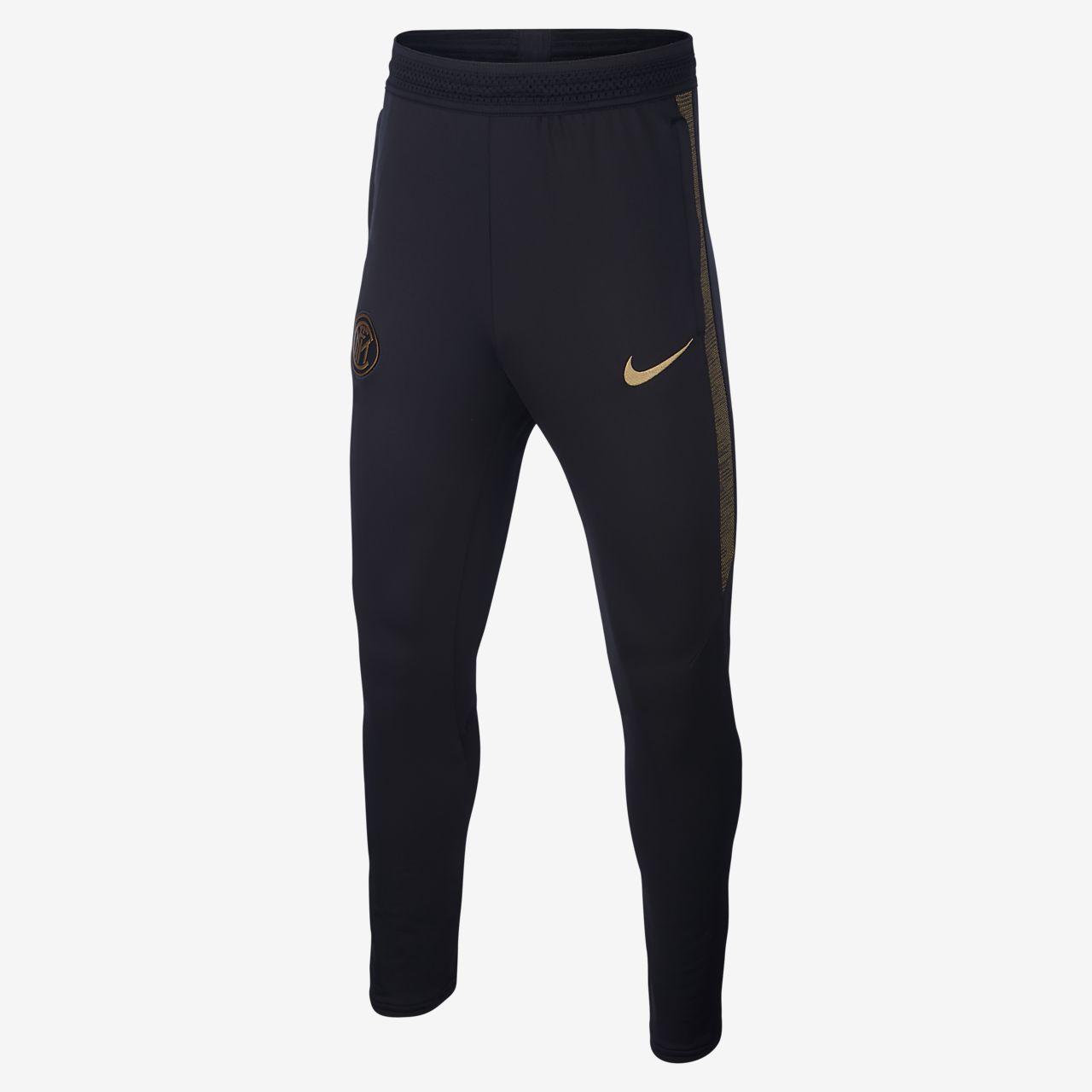 Ποδοσφαιρικό παντελόνι Nike Dri-FIT Inter Milan Strike για μεγάλα παιδιά