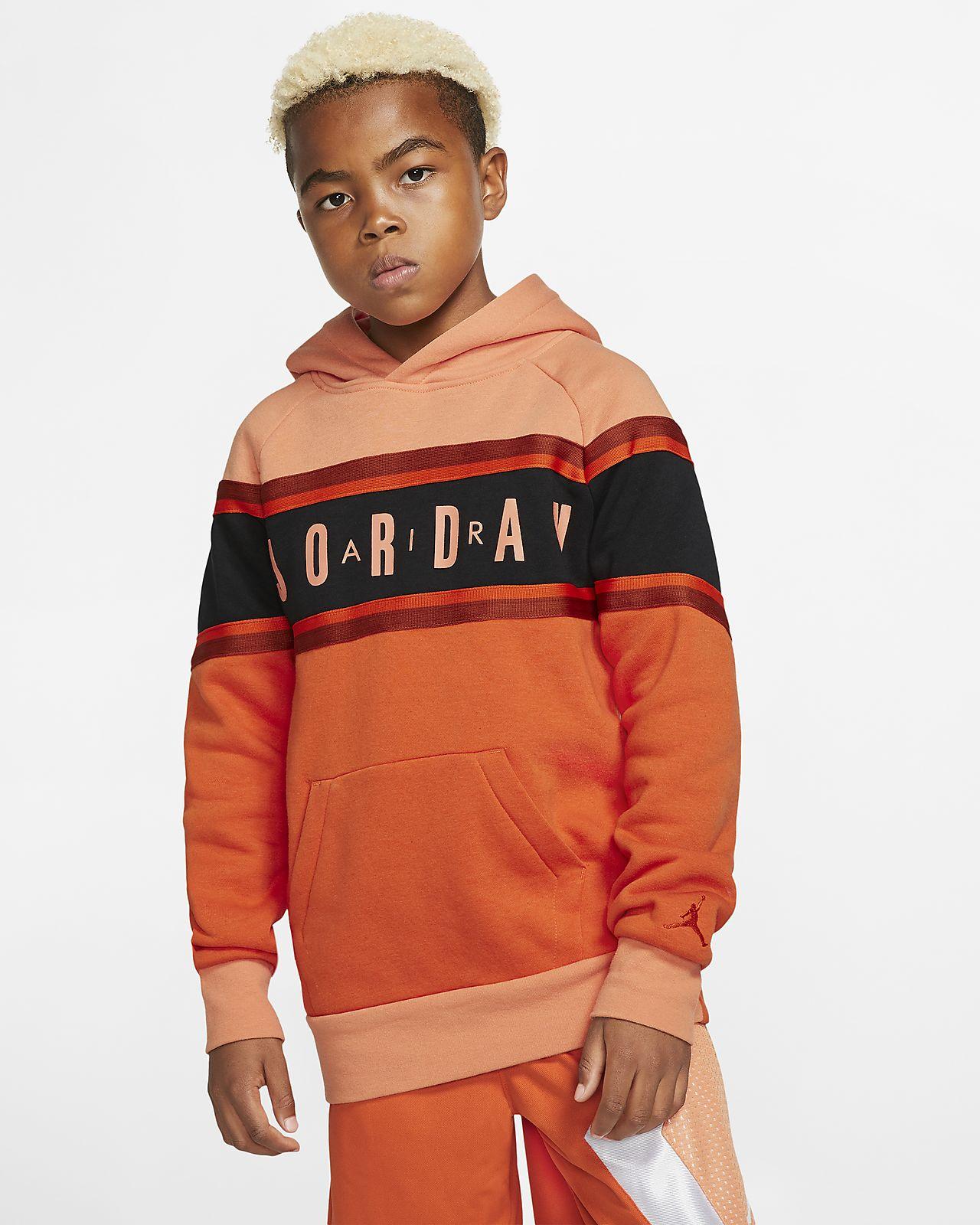 Bluza z kapturem i taśmą w kontrastowych kolorach dla dużych dzieci (chłopców) Air Jordan