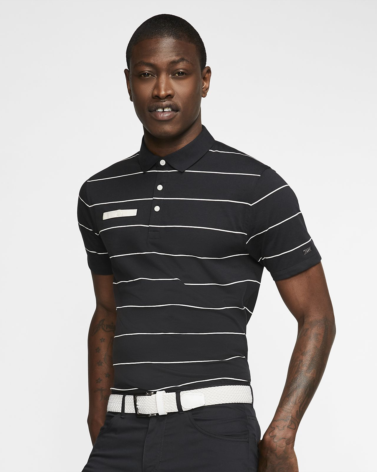 bcff760b9 Nike Dri-FIT Player Men s Striped Golf Polo. Nike.com MA