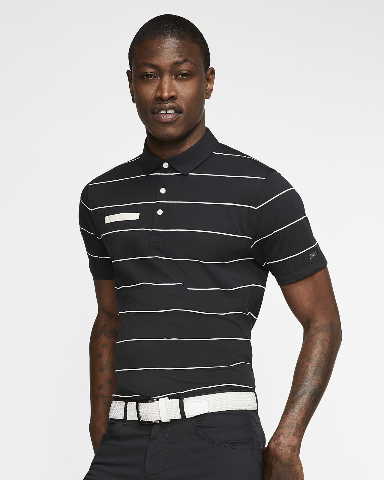 Męska koszulka polo do golfa w paski Nike Dri-FIT Player