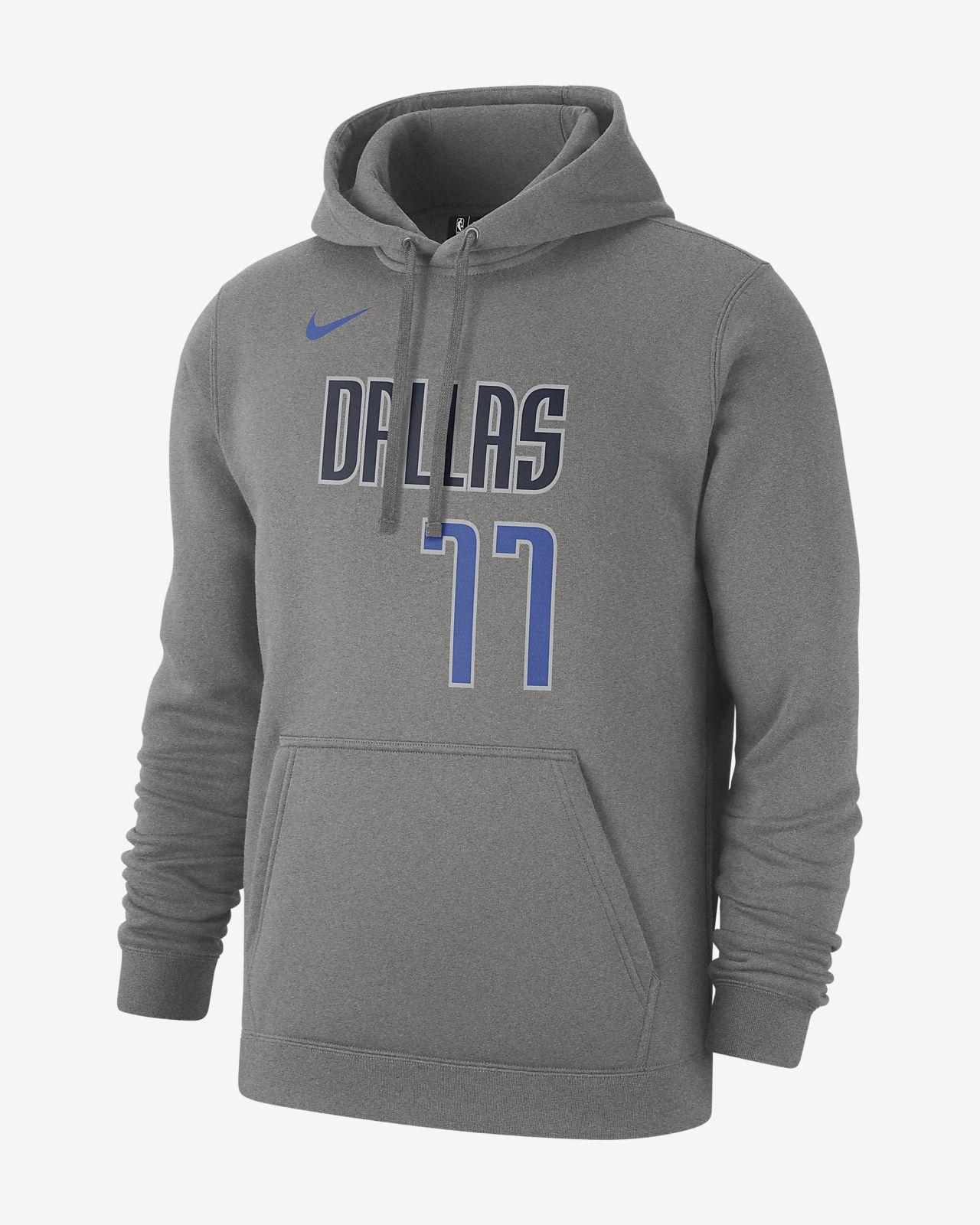 Luka Doncic Dallas Mavericks Nike NBA-s kapucnis férfipulóver