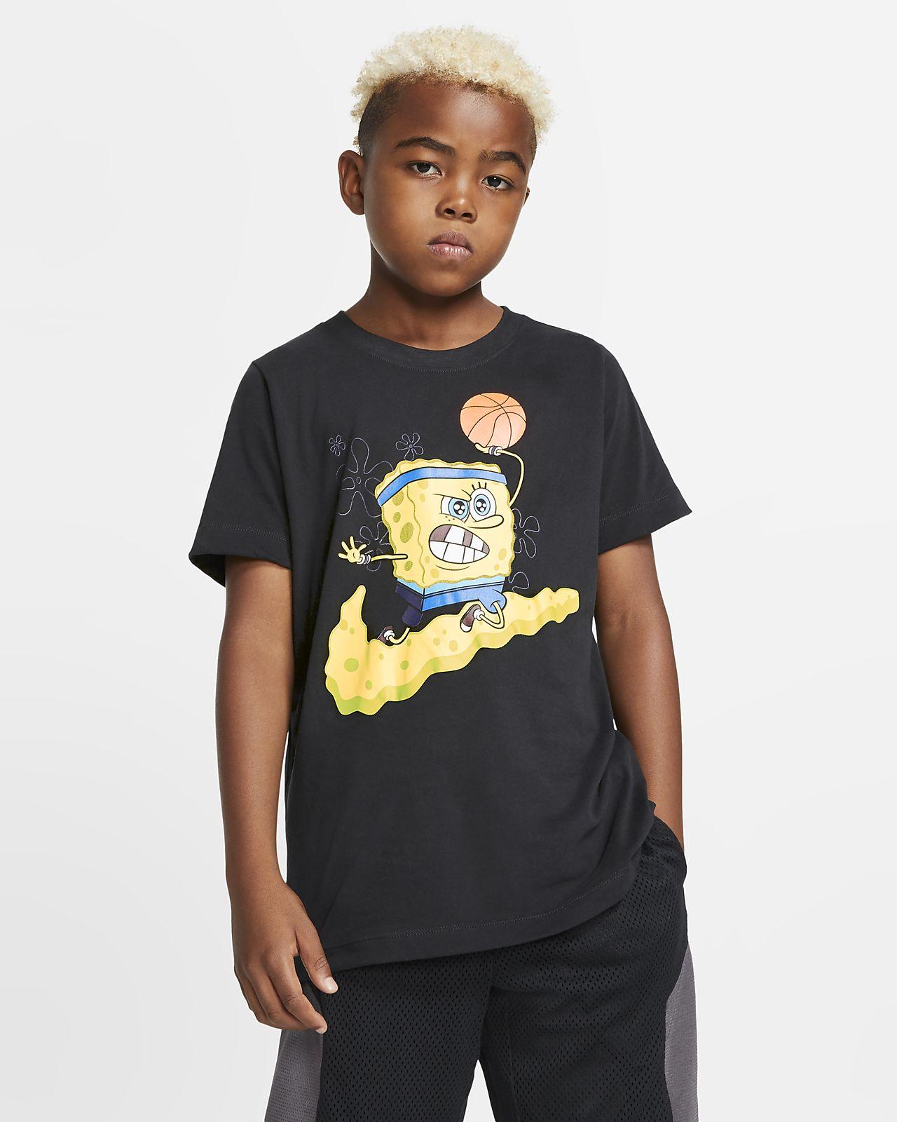 Nike Dri-FIT Kyrie SpongeBob Big Kids' (Boys') Basketball T-Shirt