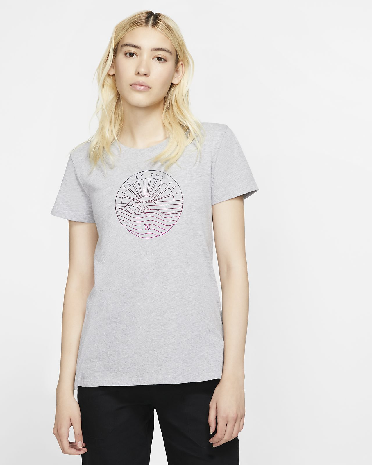 Γυναικείο T-Shirt Hurley Sea Lines Perfect