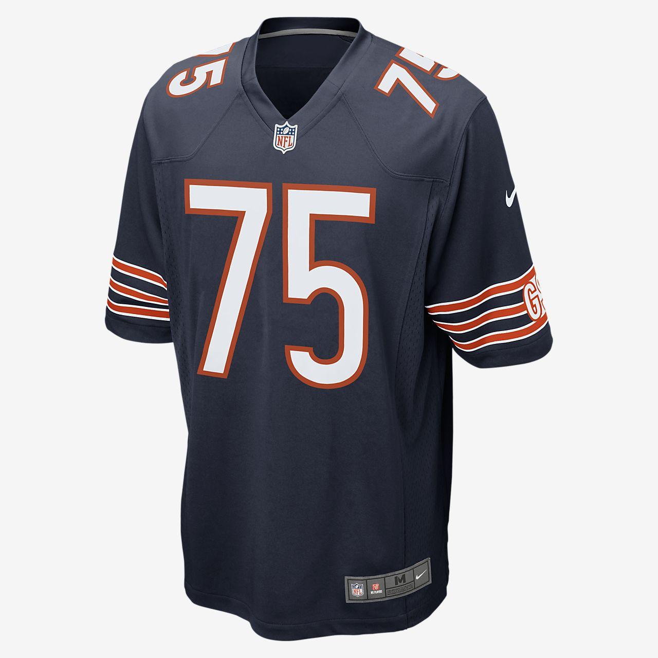 b5f1de4077 ... Camisola de jogo de futebol americano NFL Chicago Bears (Kyle Long)  para homem