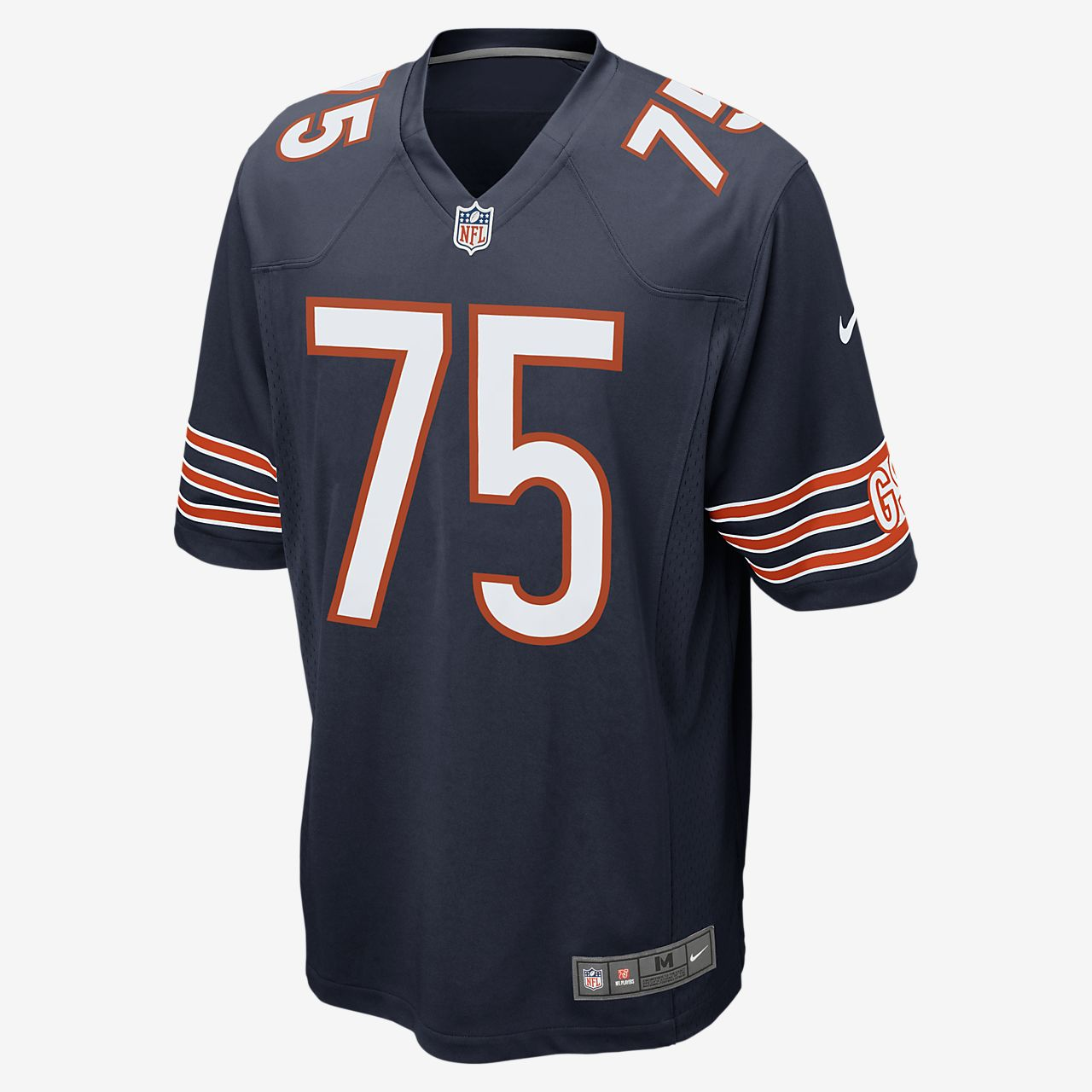 super popular 2c7bf 9a3ef NFL Chicago Bears (Kyle Long) Men's American Football Home Game Jersey