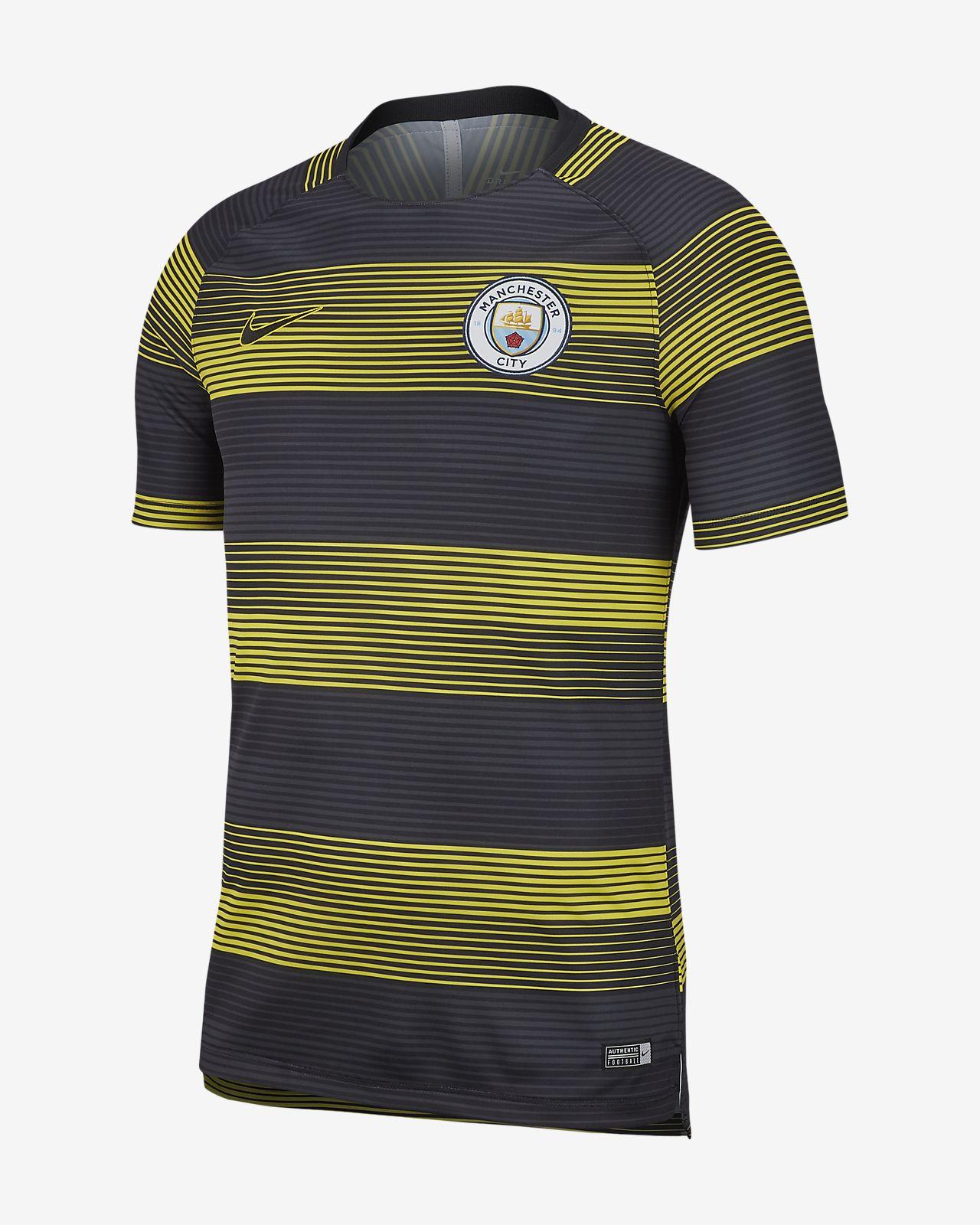 Haut de football à motif et manches courtes Nike Dri-FIT Manchester City Squad pour Homme