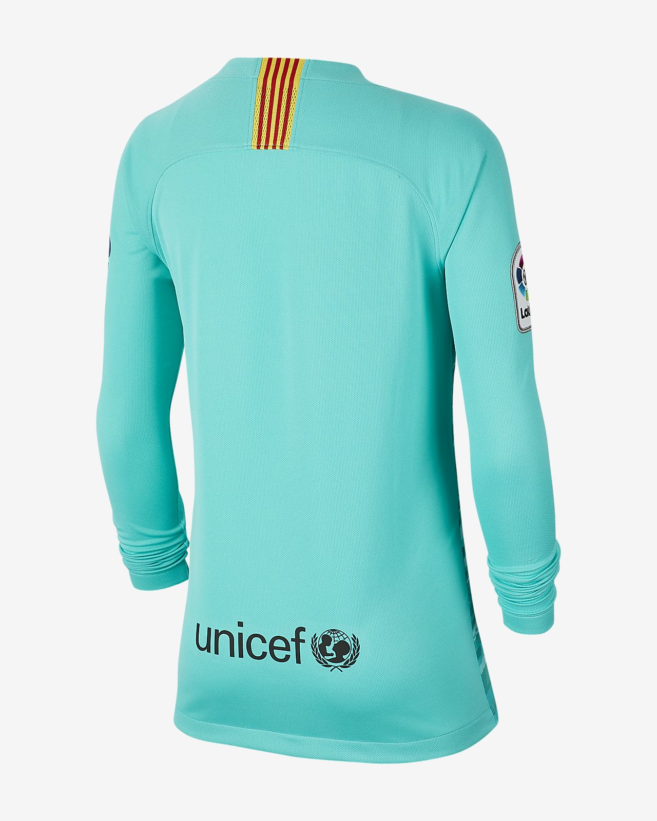brand new f518c 4d2c1 FC Barcelona 2019/20 Stadium Goalkeeper Older Kids' Football Shirt