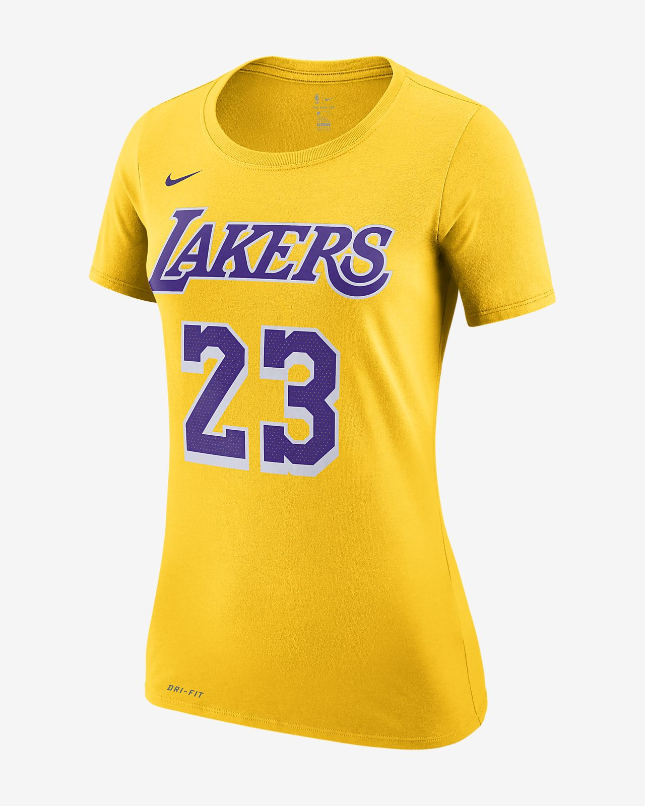 f2ccd530 ... LeBron James Los Angeles Lakers Nike Dri-FIT Women's NBA T-Shirt