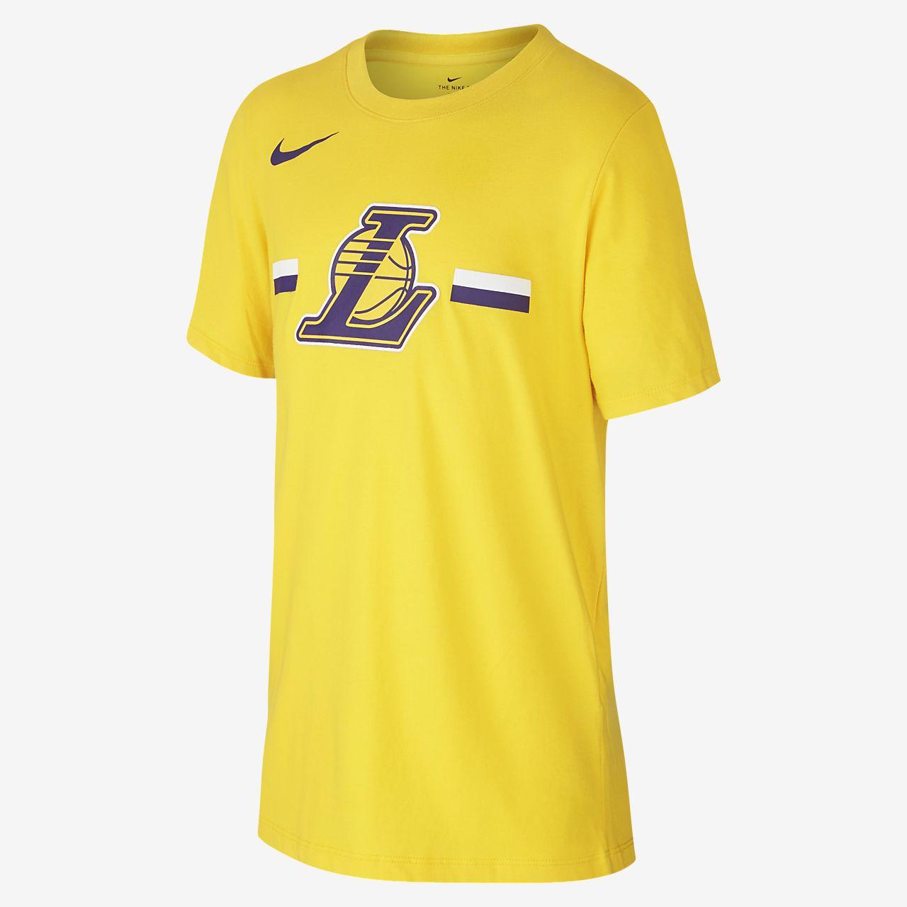 Los Angeles Lakers Nike Dri-FIT Logo NBA-s póló nagyobb gyerekeknek