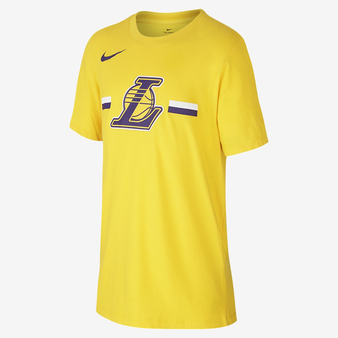Los Angeles Lakers Nike Dri-FIT Logo NBA-T-Shirt für ältere Kinder