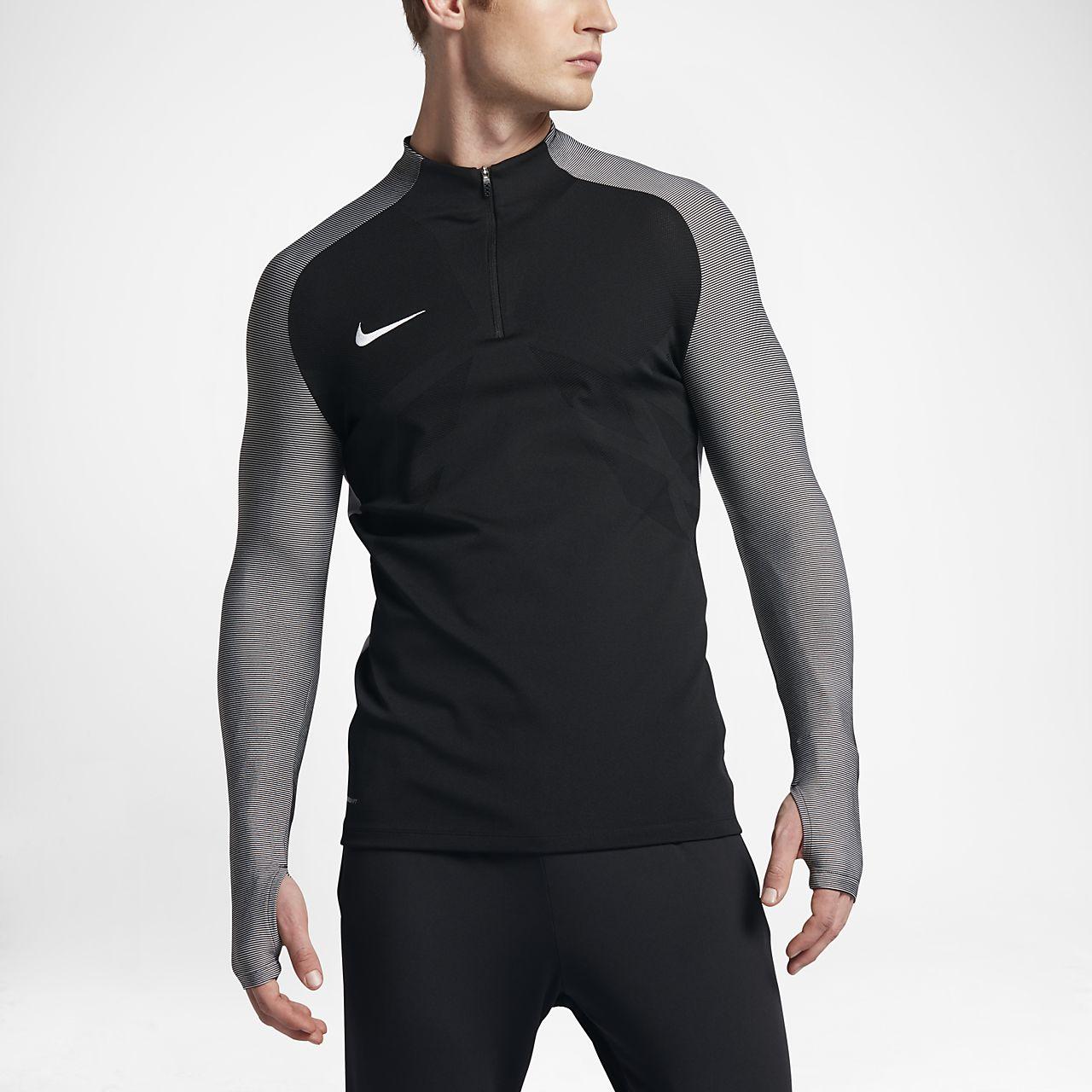 Top de ejercicios de fútbol con cierre de 1/4 para hombre Nike Strike Aeroswift