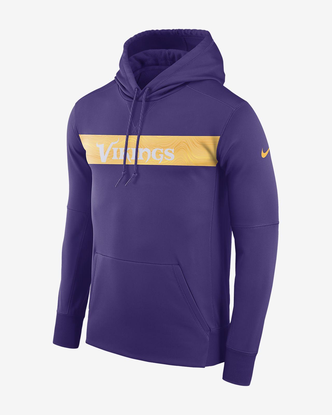 Ανδρική μπλούζα με κουκούλα Nike Dri-FIT Therma (NFL Vikings)