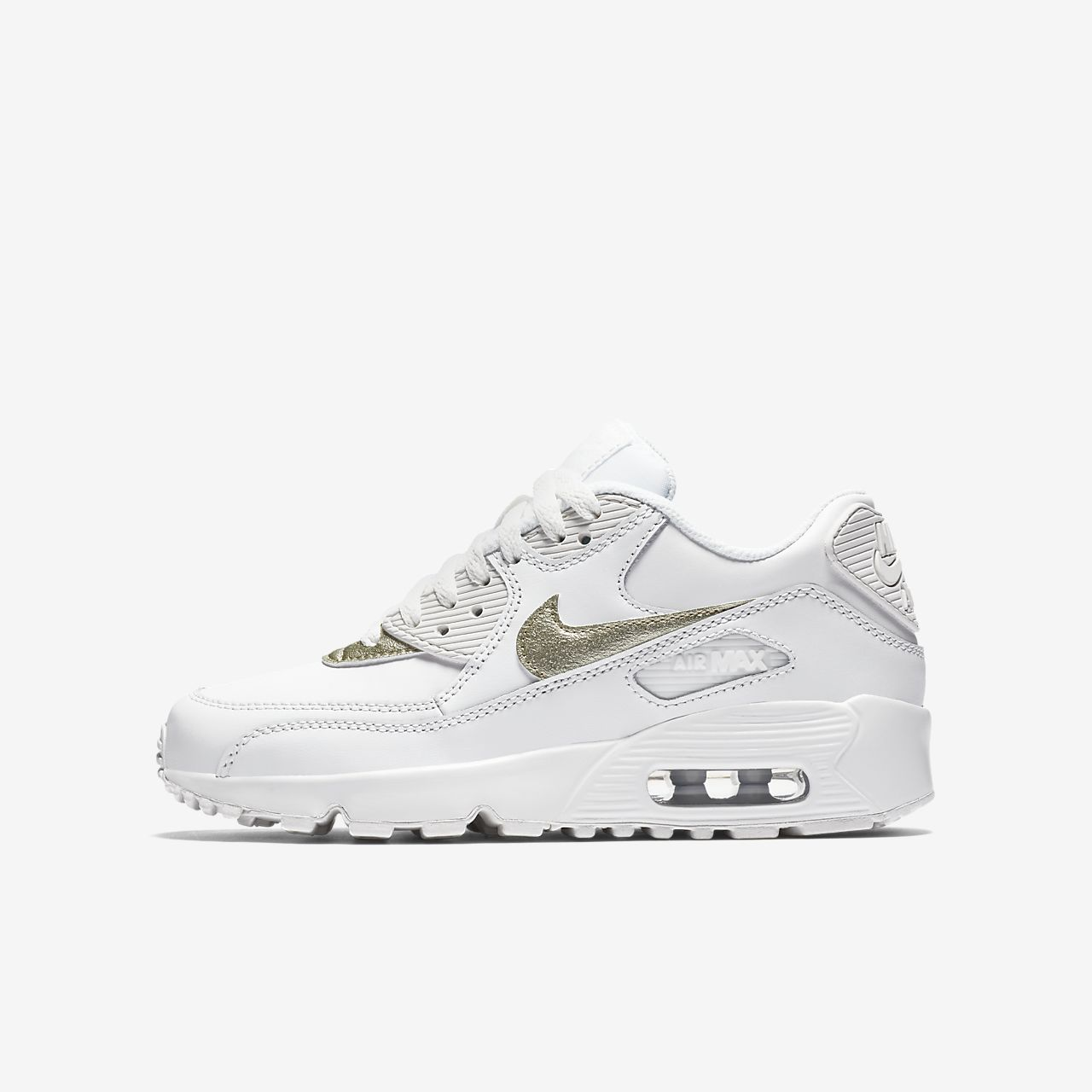 Nike Junior Air Max 90 Leather Trainer CP677