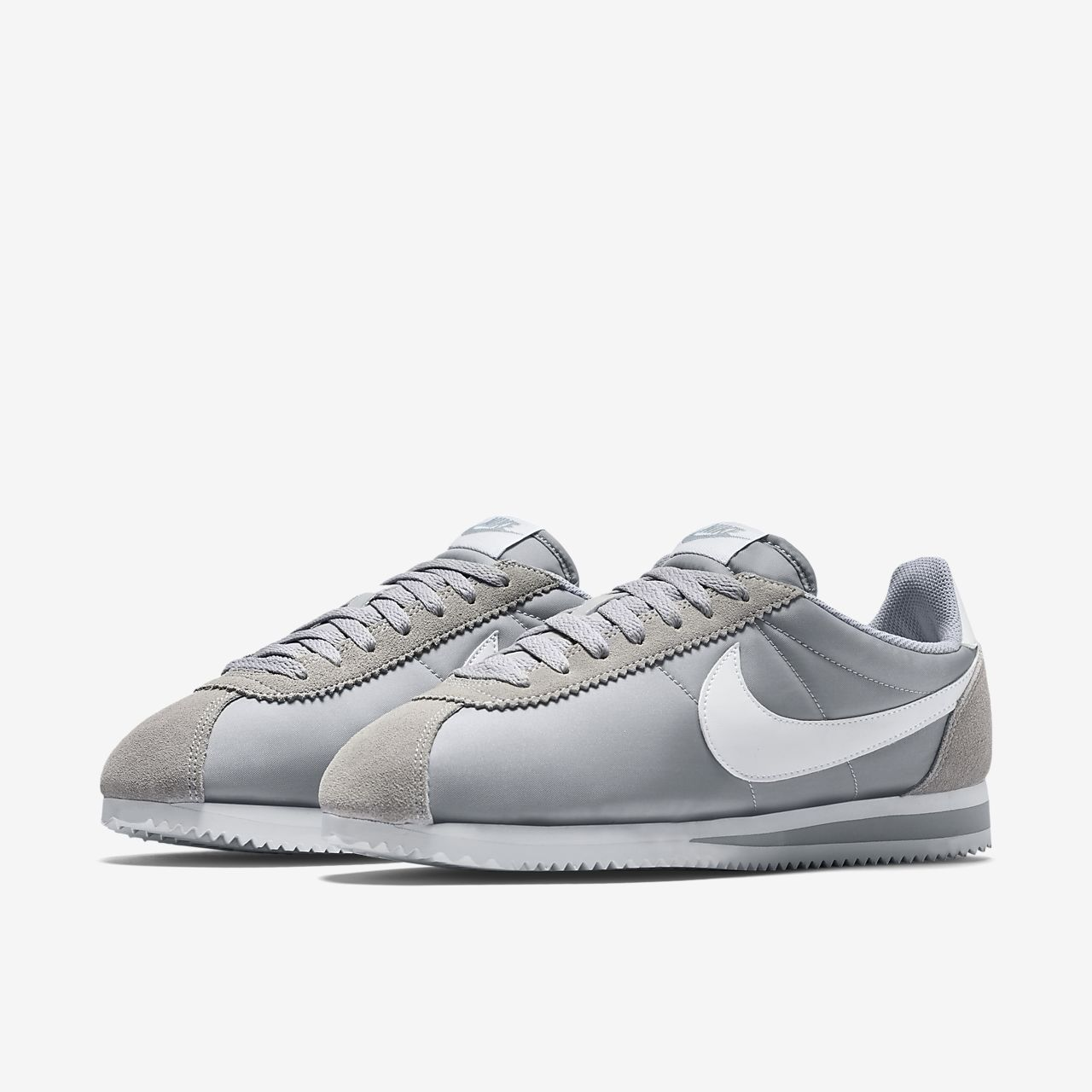 Classic Cortez Nylon Trainers In Grey 807472-010 - Grey Nike eRINXu