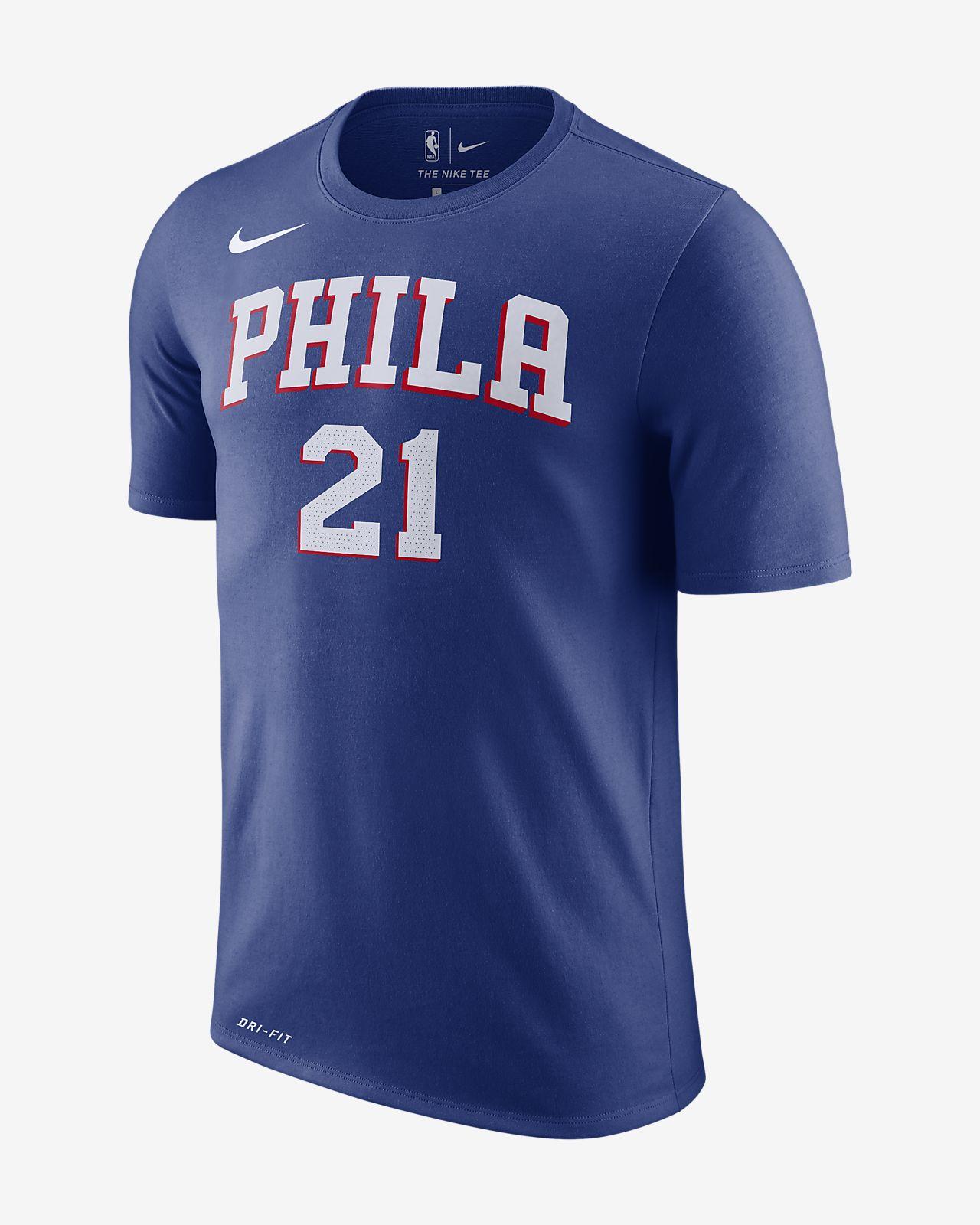 78fb57e92 Joel Embiid Philadelphia 76ers Nike Dri-FIT Men s NBA T-Shirt. Nike.com