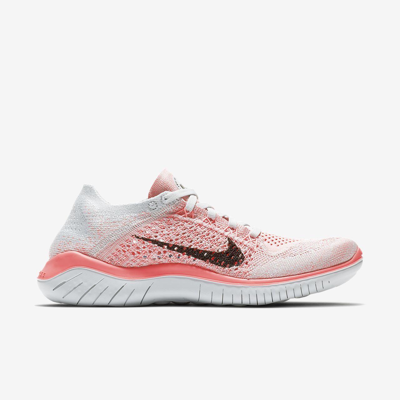 Nike Free RN Flyknit 2018 Damen-Laufschuh - Pink 6Q44O