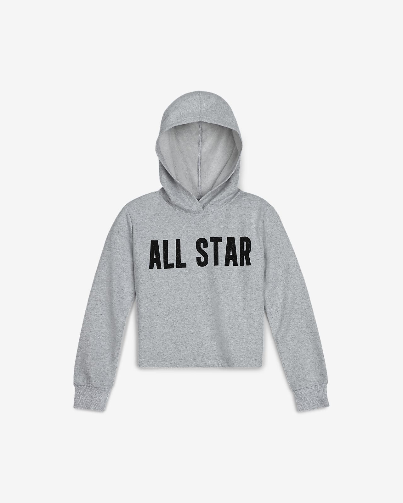 Converse All Star Big Kids' (Girls') Cropped Hoodie