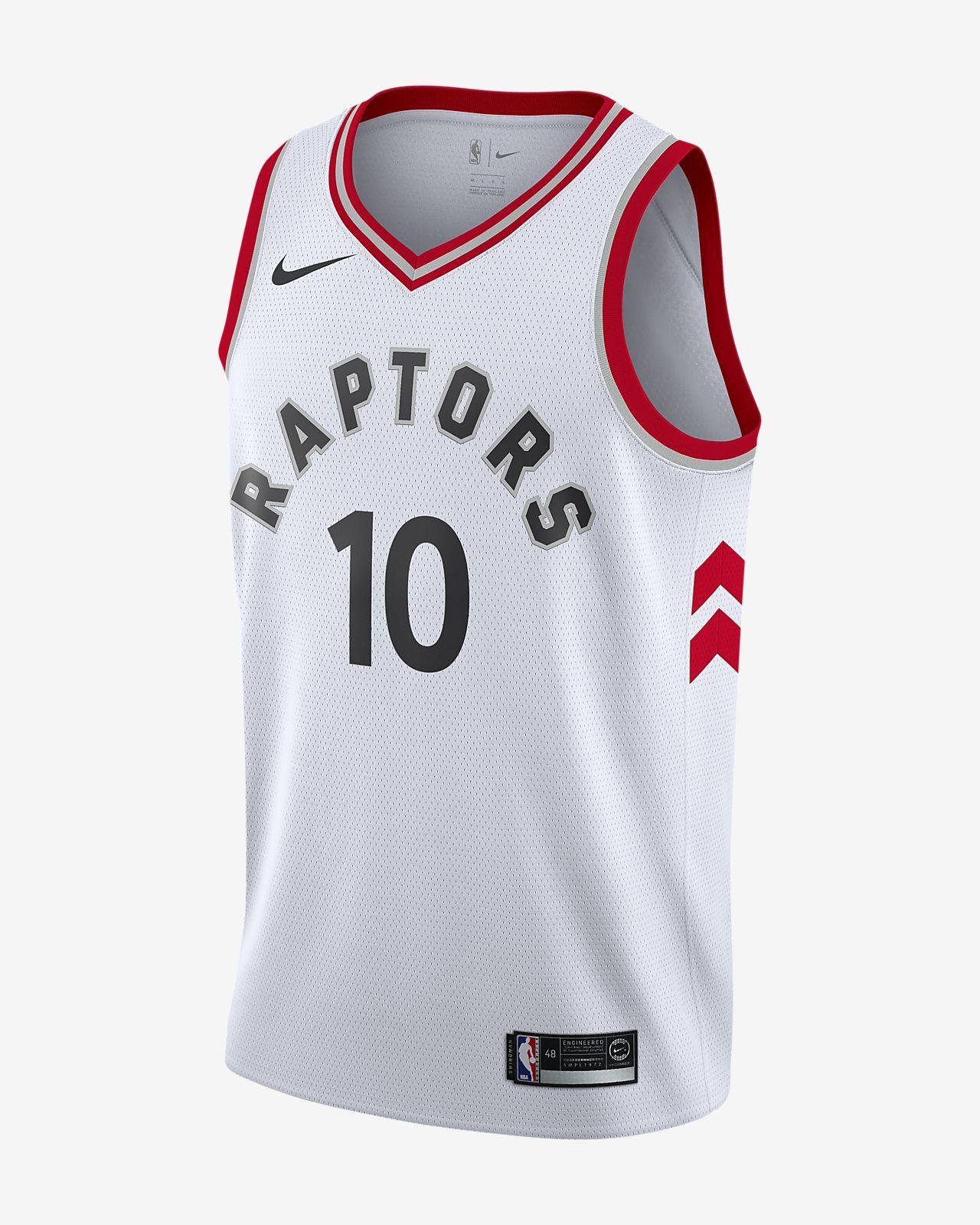 Camiseta conectada para hombre Nike NBA DeMar DeRozan Association Edition Swingman (Toronto Raptors)