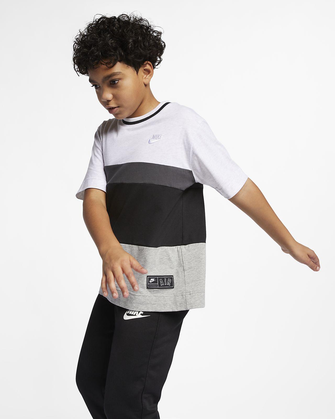 Nike Air-top med korte ærmer til store børn (drenge)