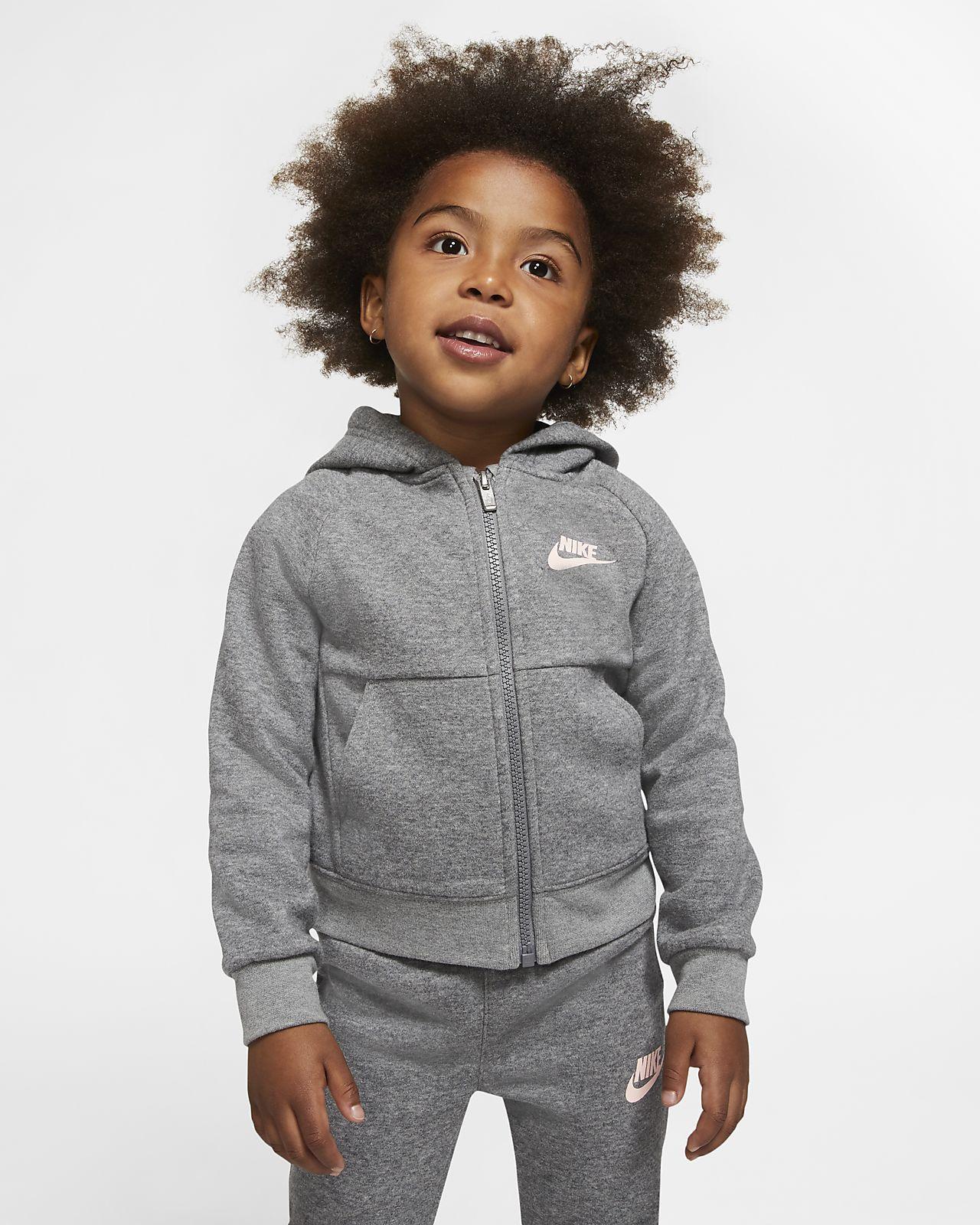 Tvådelat set med huvtröja och joggingbyxor Nike för små barn
