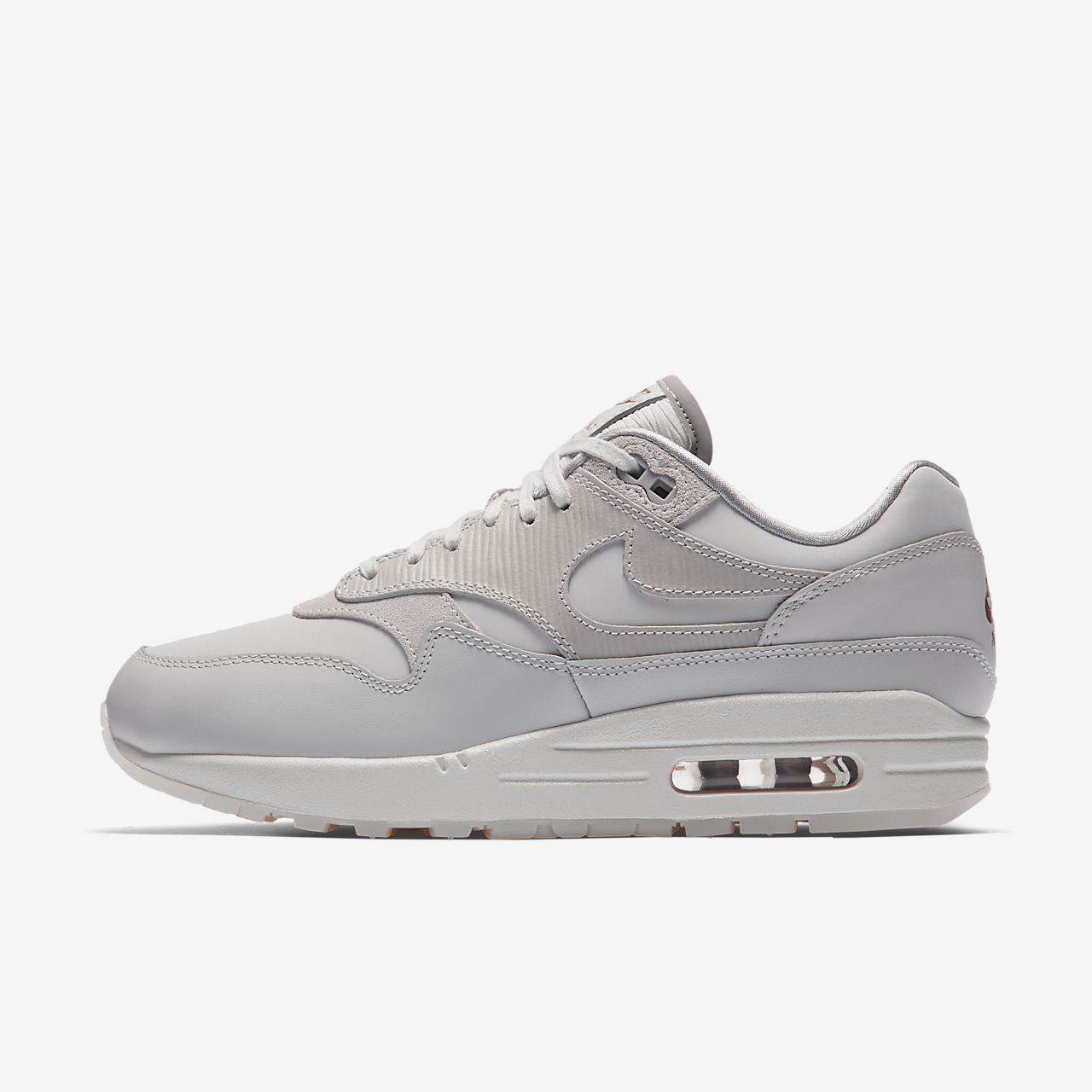 19dfae90d63 inexpensive nike air max 1 premium womens grey 9fa9f 4c25c