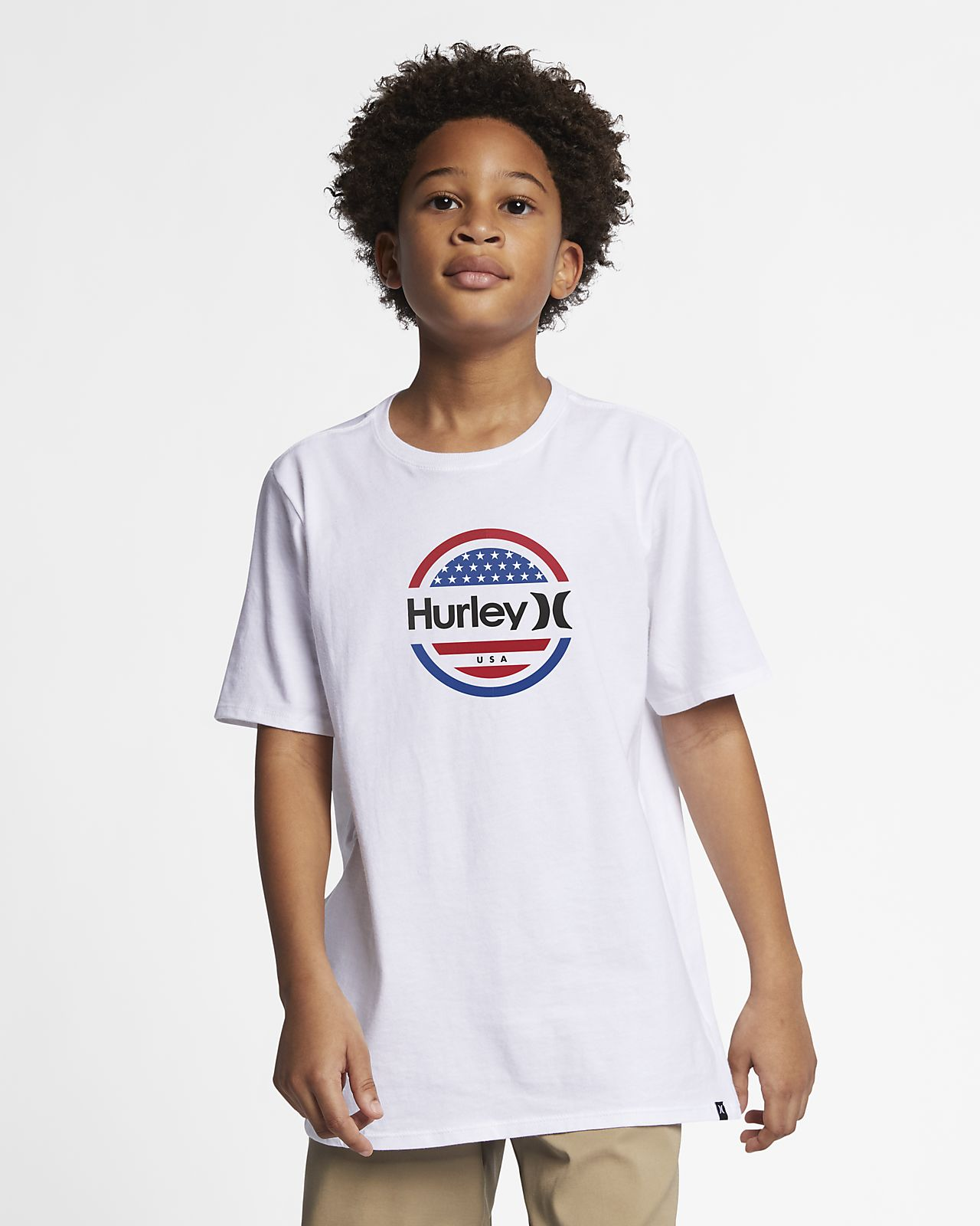 Hurley Premium One And Only Circle Stars Boys' T-Shirt