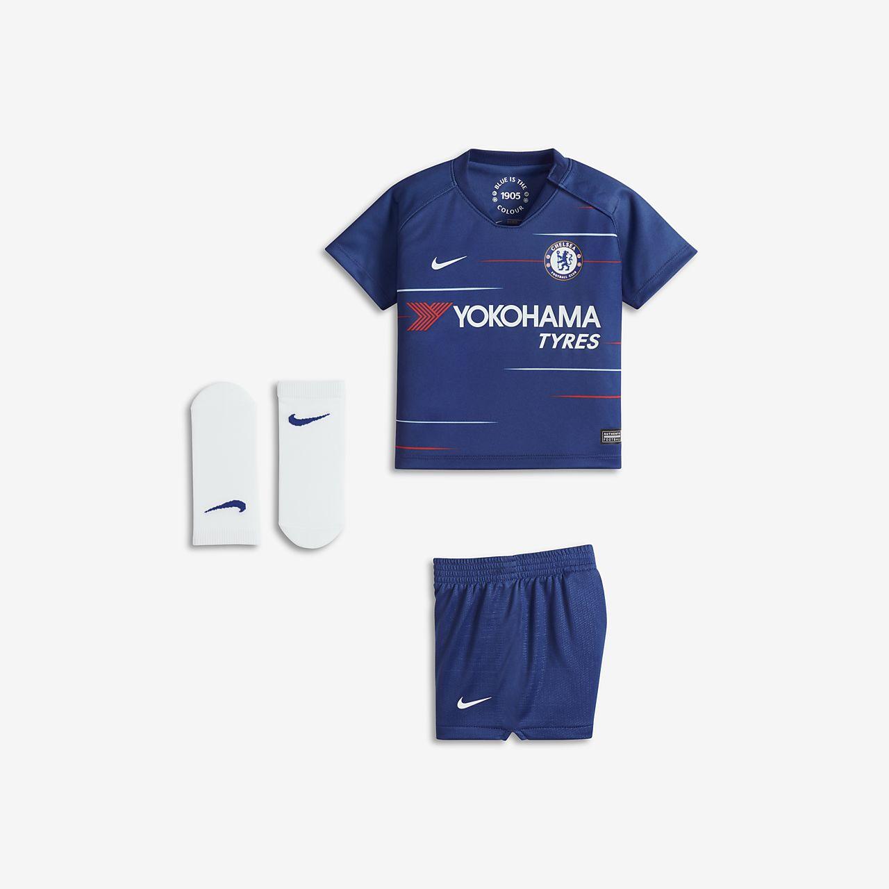Kit de fútbol para bebé e infantil de local Stadium del Chelsea FC 2018/19