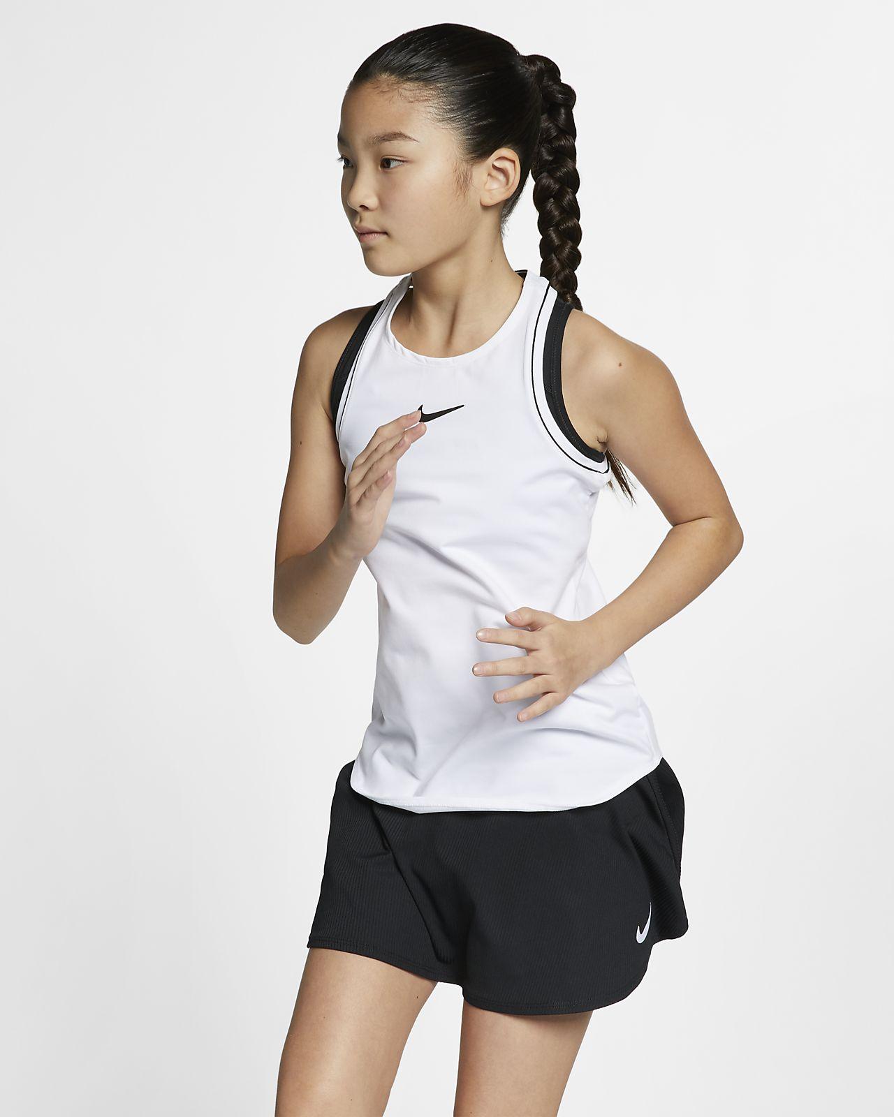 NikeCourt Dri-FIT-tennistanktop til store børn (piger)