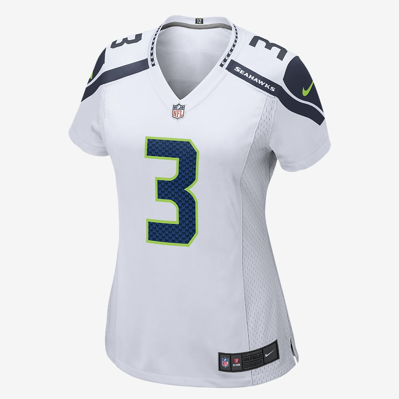 NFL Seattle Seahawks (Russell Wilson) Women s Football Away Game ... bf3313c99