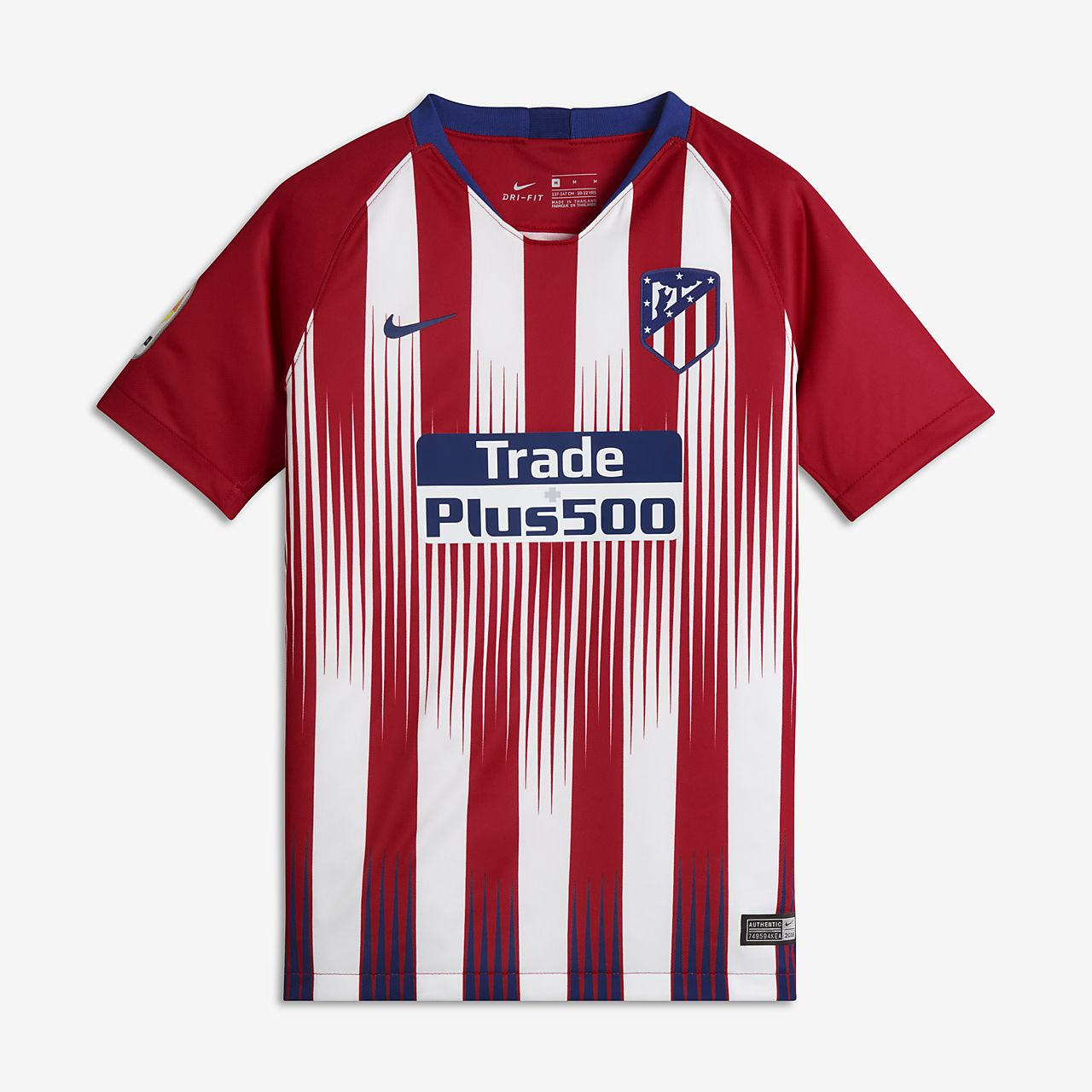 bcec864d0dc 2018 19 Atletico de Madrid Stadium Home Older Kids  Football Shirt ...