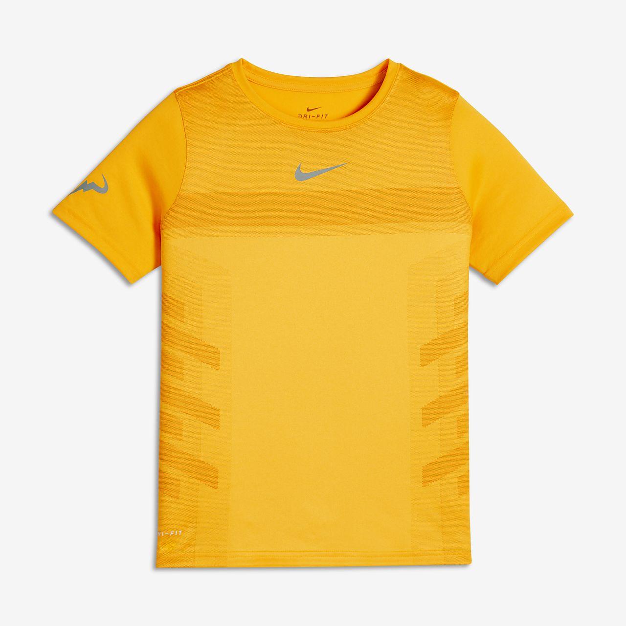T-Shirt τένις NikeCourt Rafa για μεγάλα αγόρια