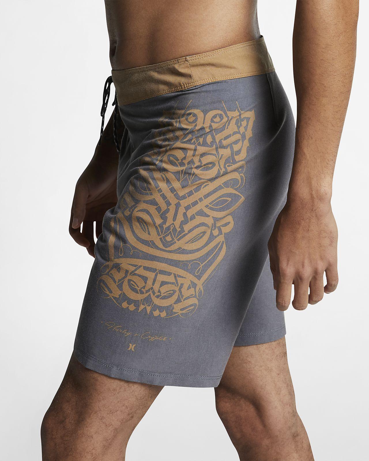Shorts de playa de 46 cm para hombre Hurley Cryptik Tiki