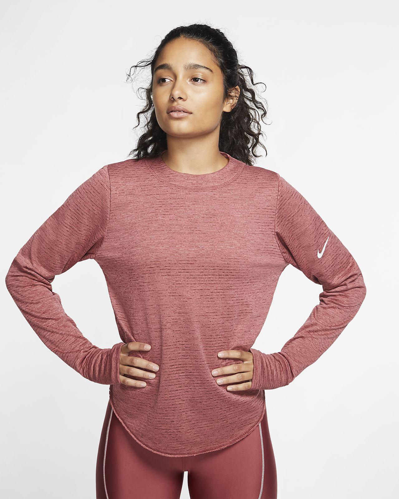 Prenda para la parte superior de running de manga larga para mujer Nike Sphere Element
