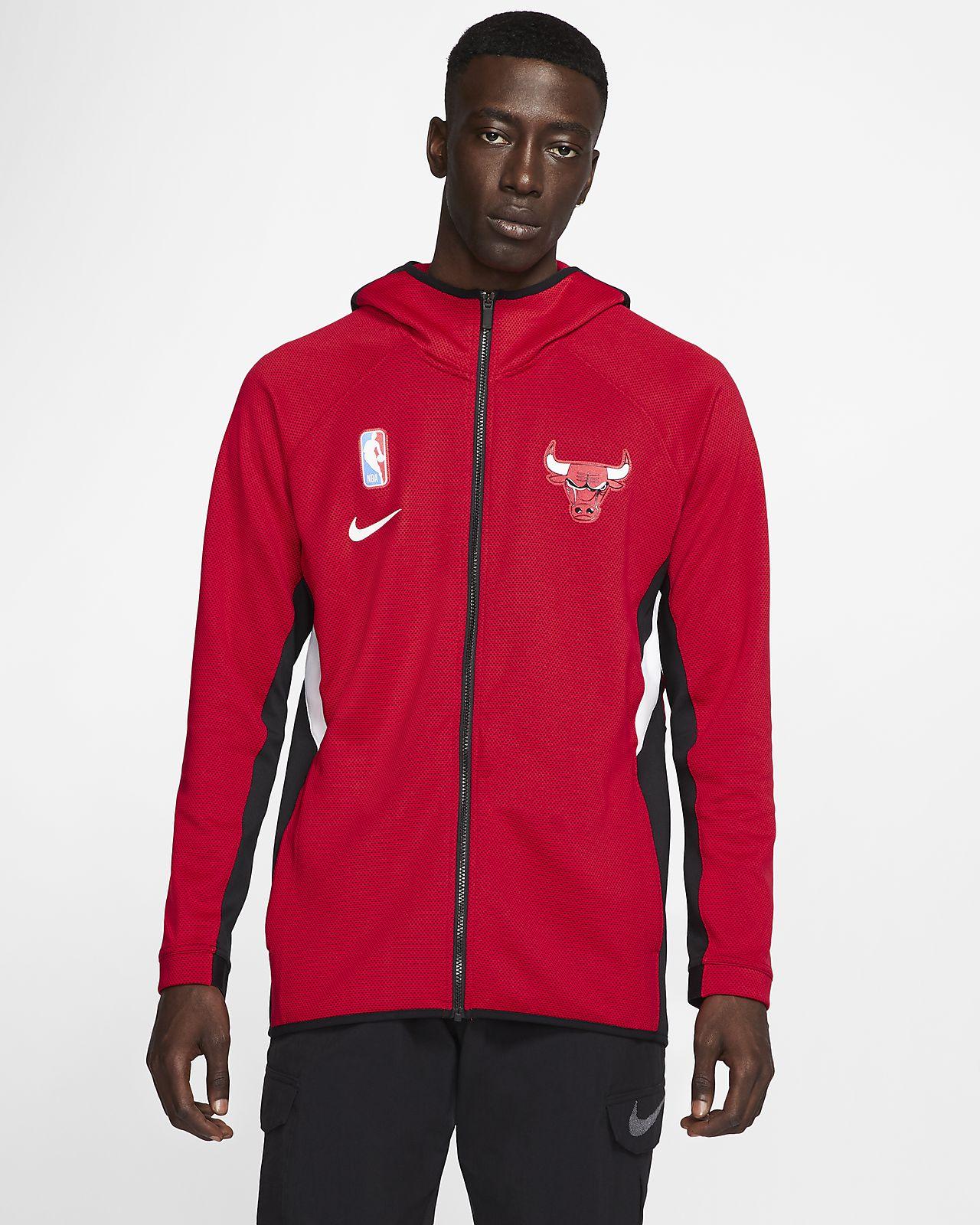 Sweat à capuche NBA Chicago Bulls Nike Therma Flex Showtime pour Homme