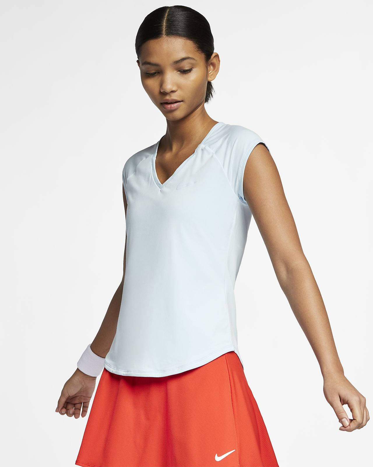 07766eb123c8 NikeCourt Pure Women s Tennis Top. Nike.com