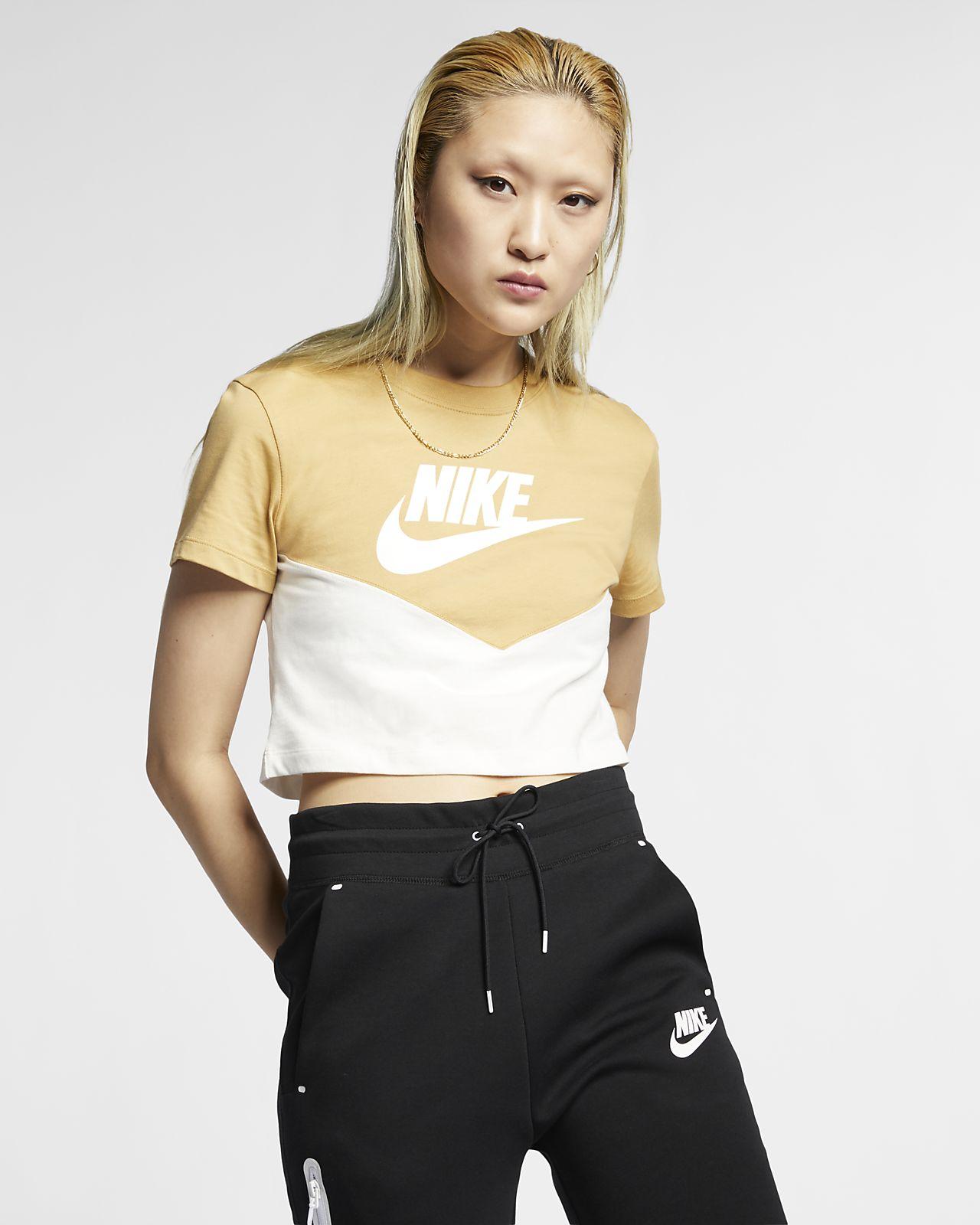 Nike Sportswear Heritage Damestop met korte mouwen
