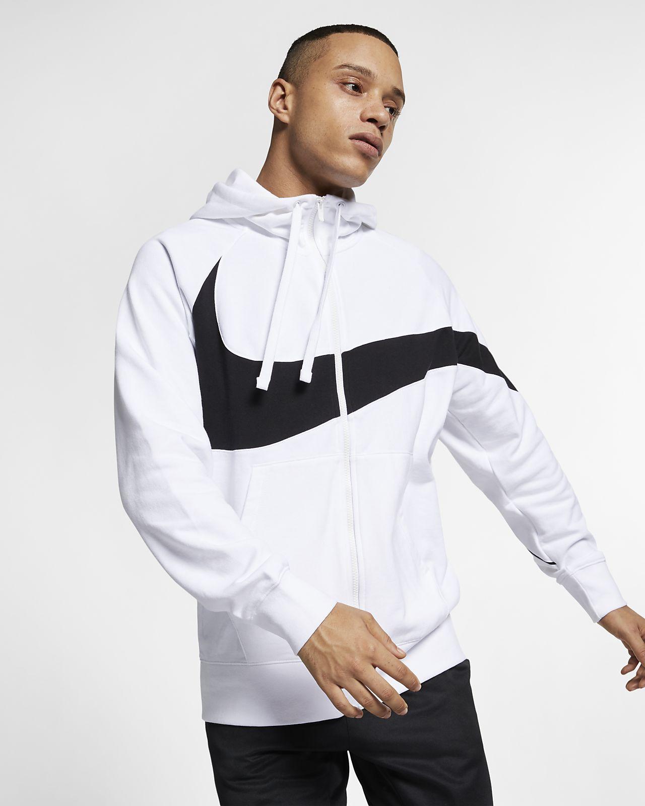 f4b49abe308d ... Ανδρική μπλούζα με κουκούλα και φερμουάρ από υλικό French Terry Nike  Sportswear