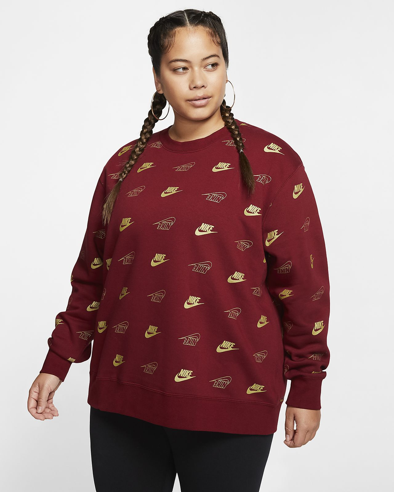 Camiseta de cuello redondo para mujer (talla grande) Nike Sportswear