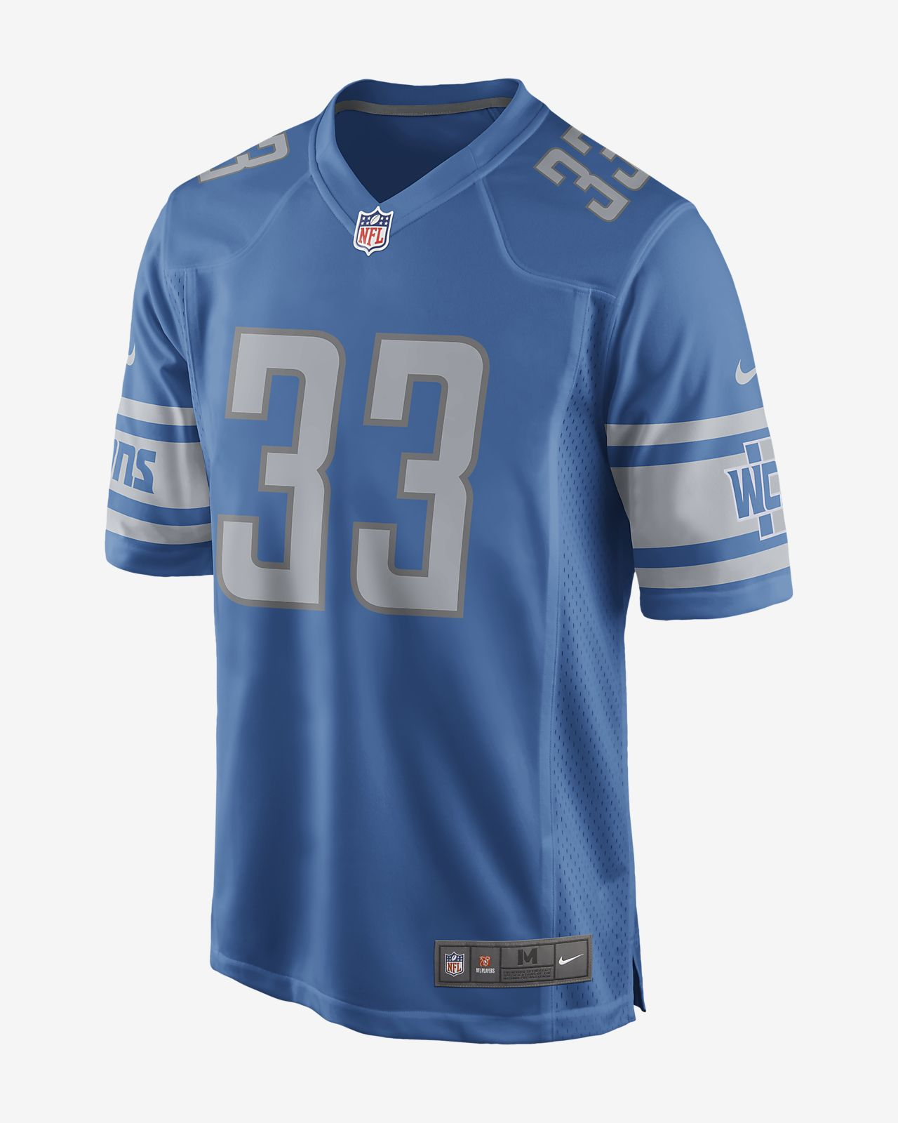91f9ad1d NFL Detroit Lions (Kerryon Johnson) Men's Game Football Jersey