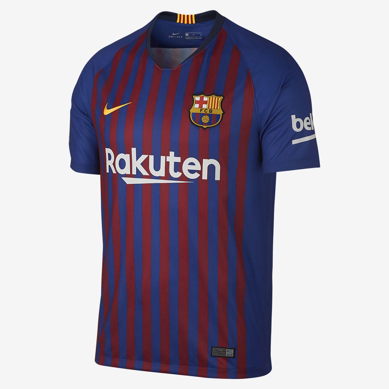 Men s Soccer Jersey. 2018 19 FC Barcelona Stadium Home (Ousmane Dembele) 81dea4125