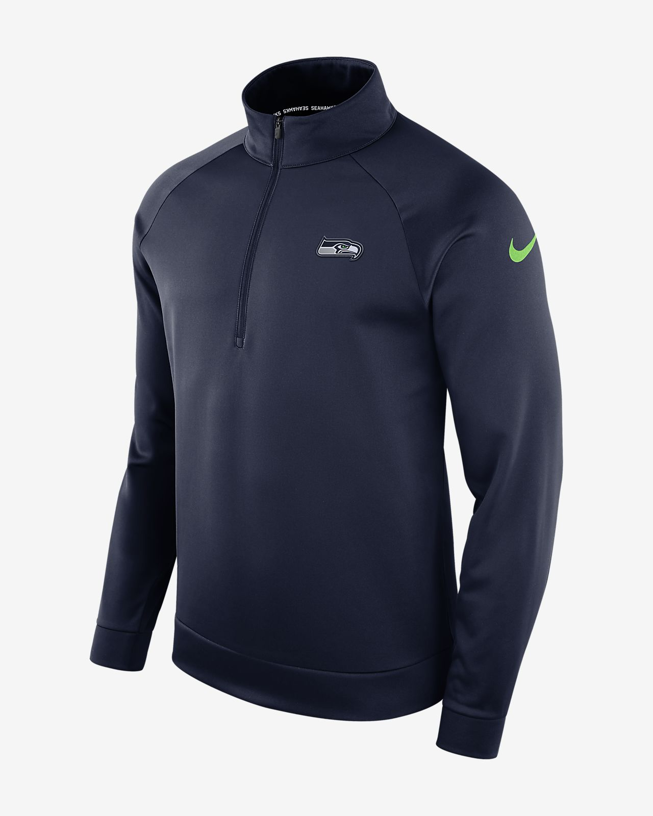 38f86cc39f1a Nike Dri-FIT Therma (NFL Seahawks) Men s Half-Zip Long Sleeve Top ...