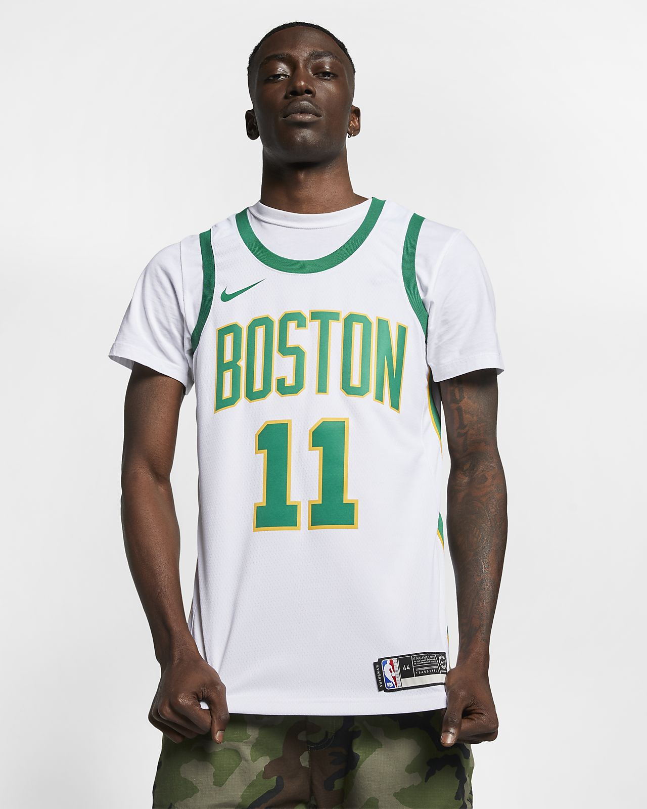 competitive price 0aec2 45e3c celtics sleeved jersey